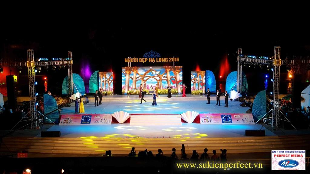 Sân khấu tổ chức cuộc thi Người đẹp - Miss cũng được Perfect Media thiết kế, thi công ấn tượng