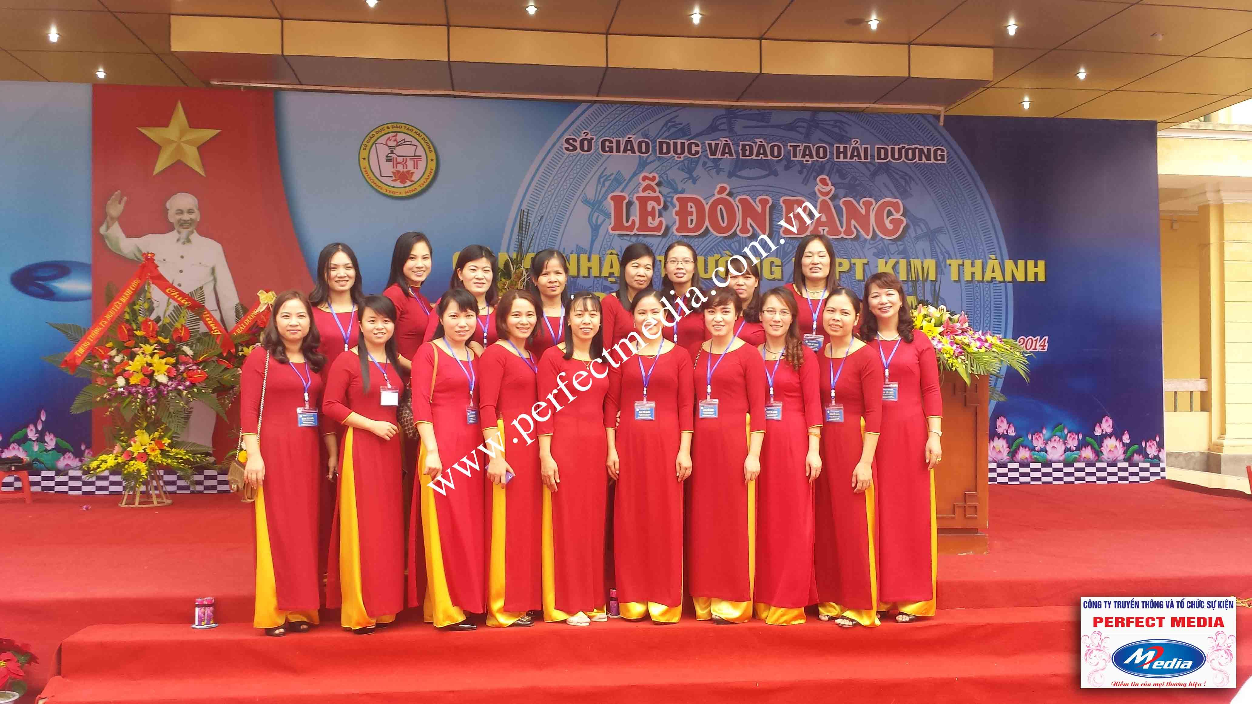 Hình ảnh buổi lễ Trường THPT Kim Thành được công nhận đạt chuẩn Quốc Gia 14
