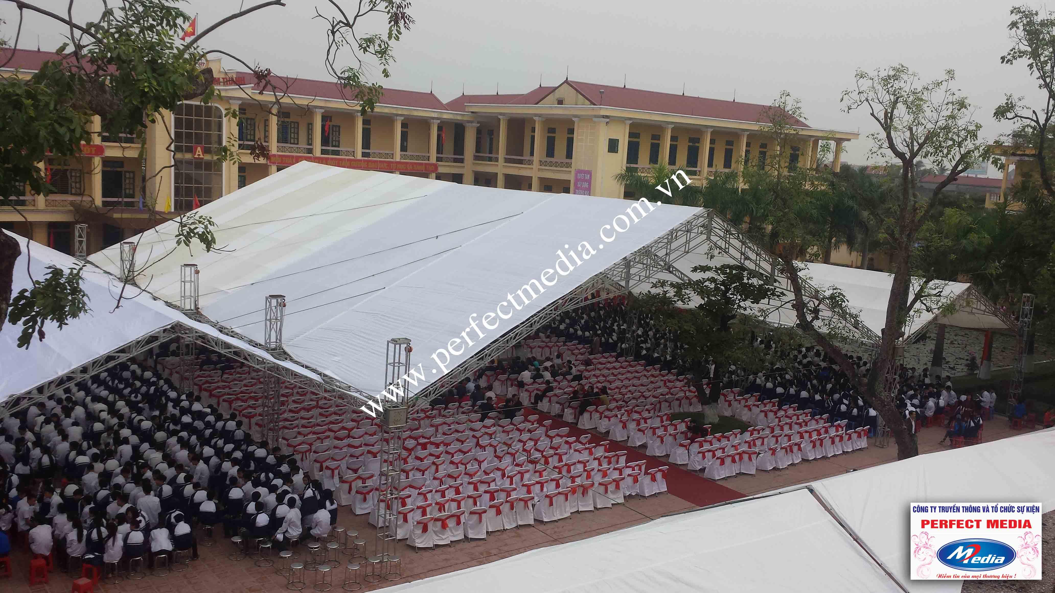 Hình ảnh buổi lễ Trường THPT Kim Thành được công nhận đạt chuẩn Quốc Gia