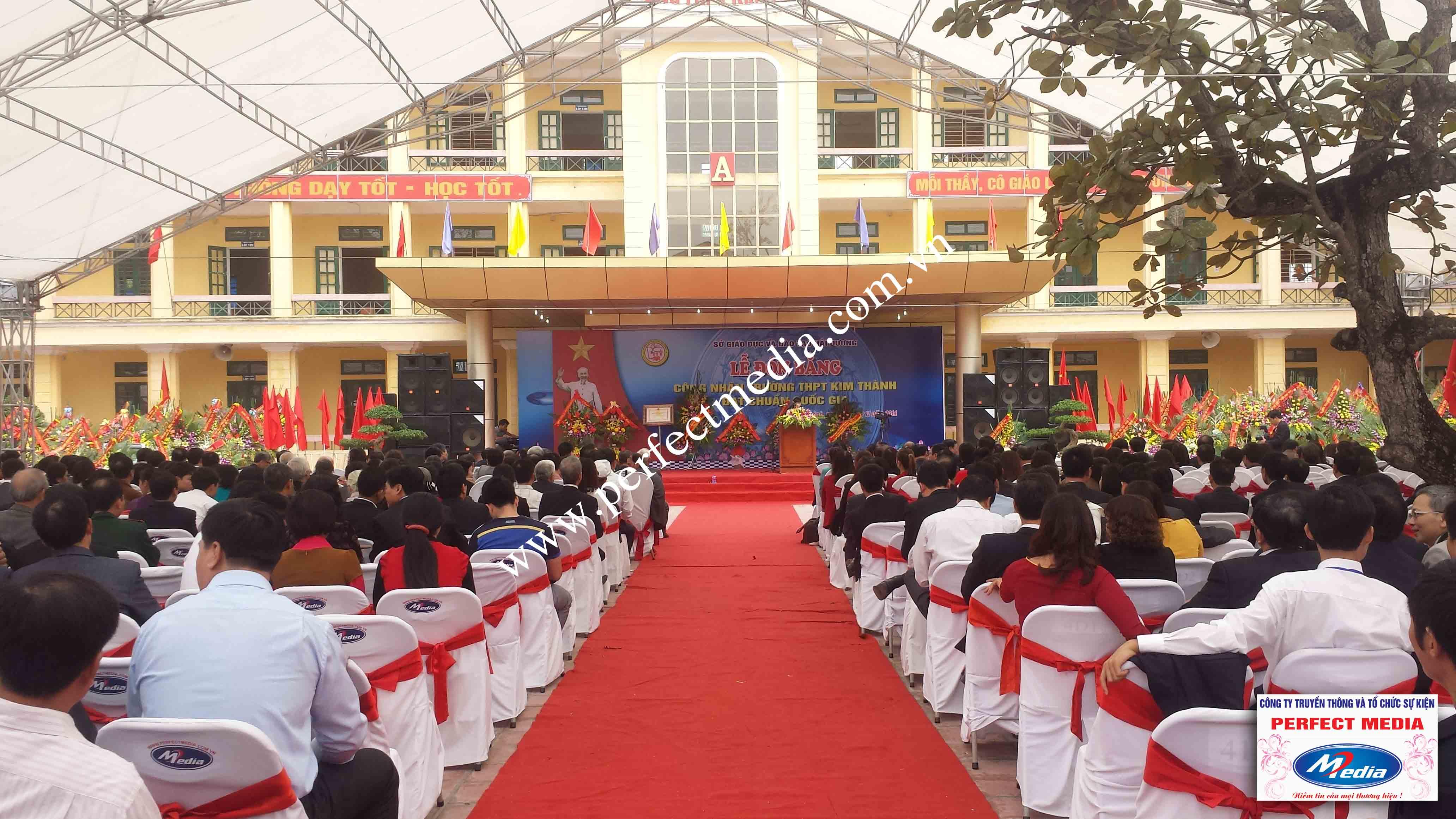 Hình ảnh buổi lễ Trường THPT Kim Thành được công nhận đạt chuẩn Quốc Gia 08
