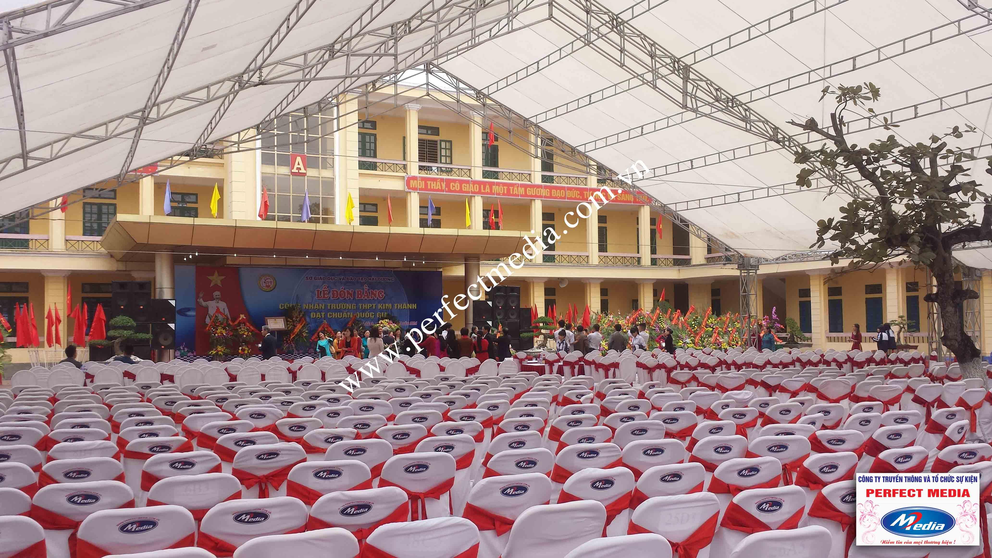 Hình ảnh buổi lễ Trường THPT Kim Thành được công nhận đạt chuẩn Quốc Gia 05