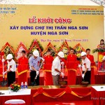 Khởi công xây dựng chợ thị trấn huyện Nga Sơn