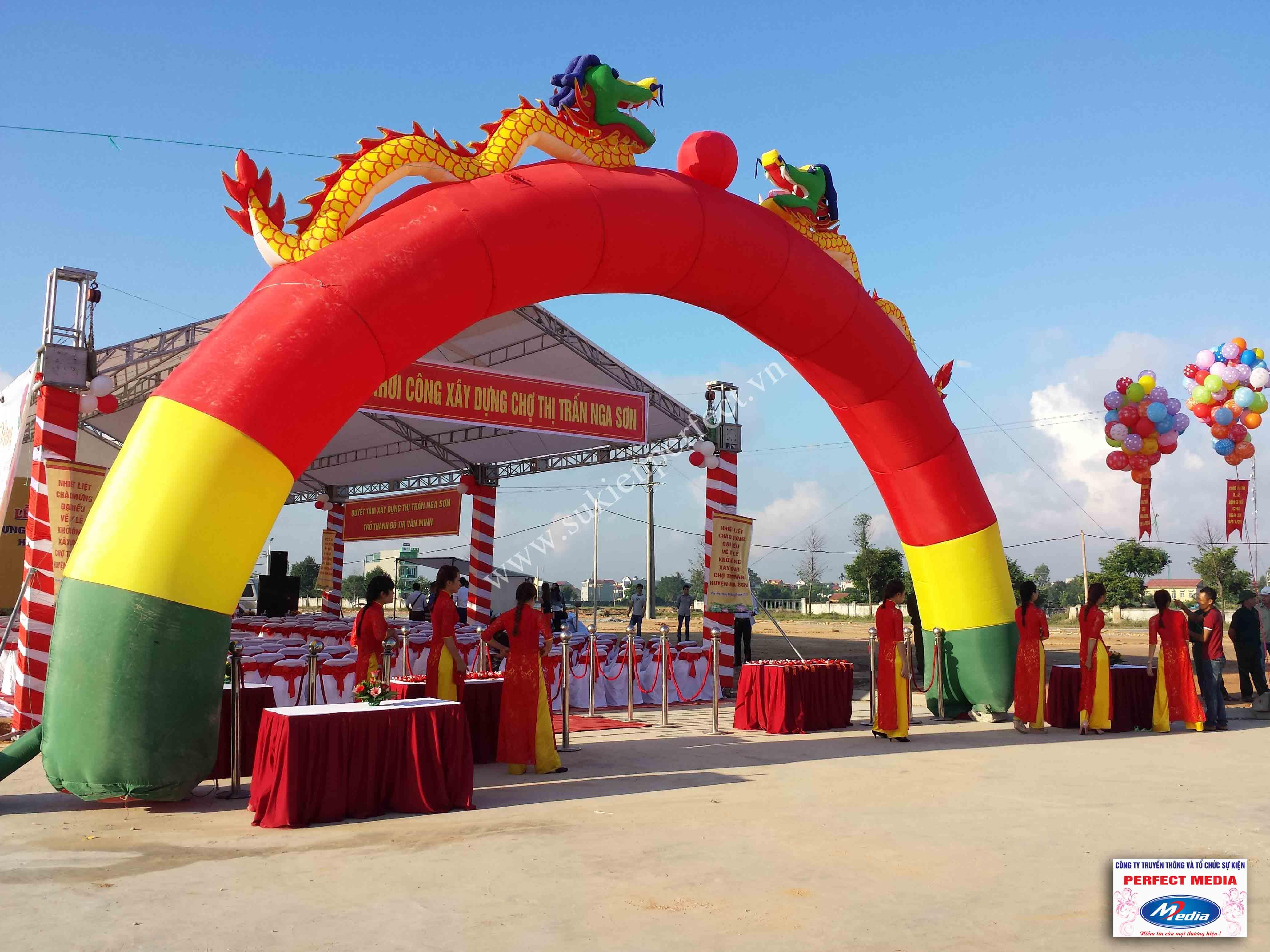 Hình ảnh hội trường lễ khởi công xây dựng chợ thị trấn huyện Nga Sơn 03