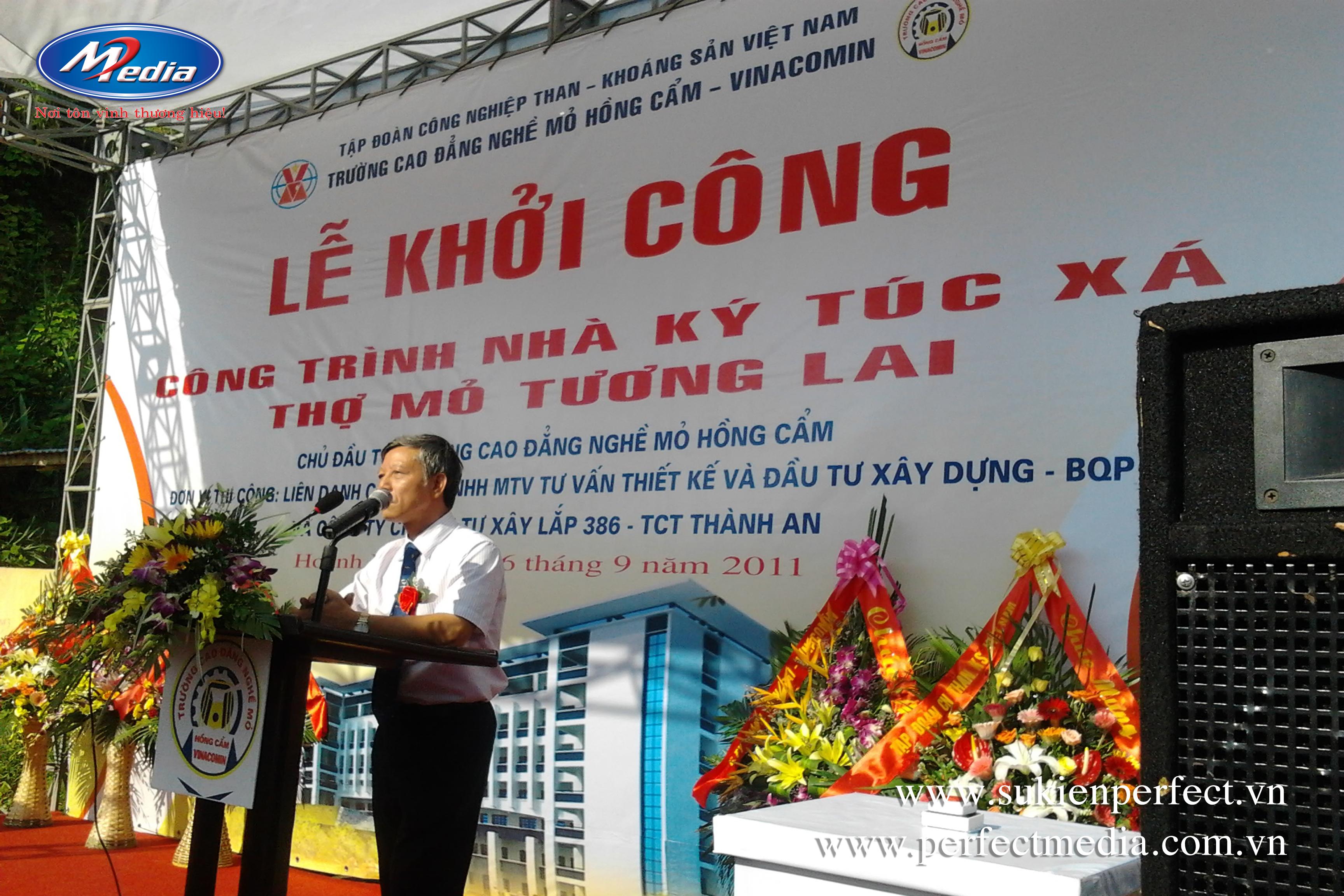 Lễ khởi công năm 2011 do Perfect Media thực hiện tại Quảng Ninh