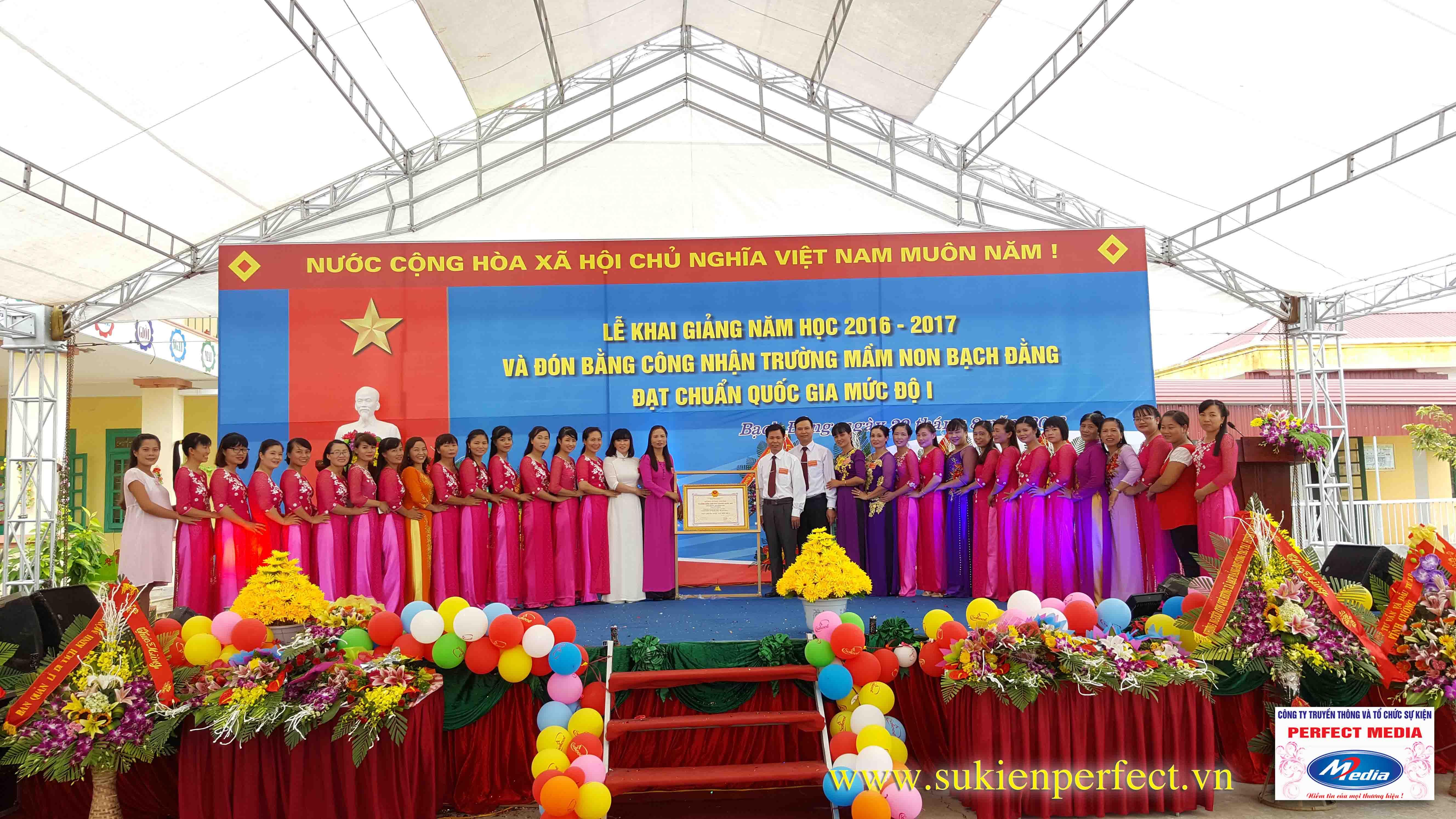 Lễ khai giảng năm học 2016 - 2017 của trường mầm non Bạch Đằng - Kinh Môn 09