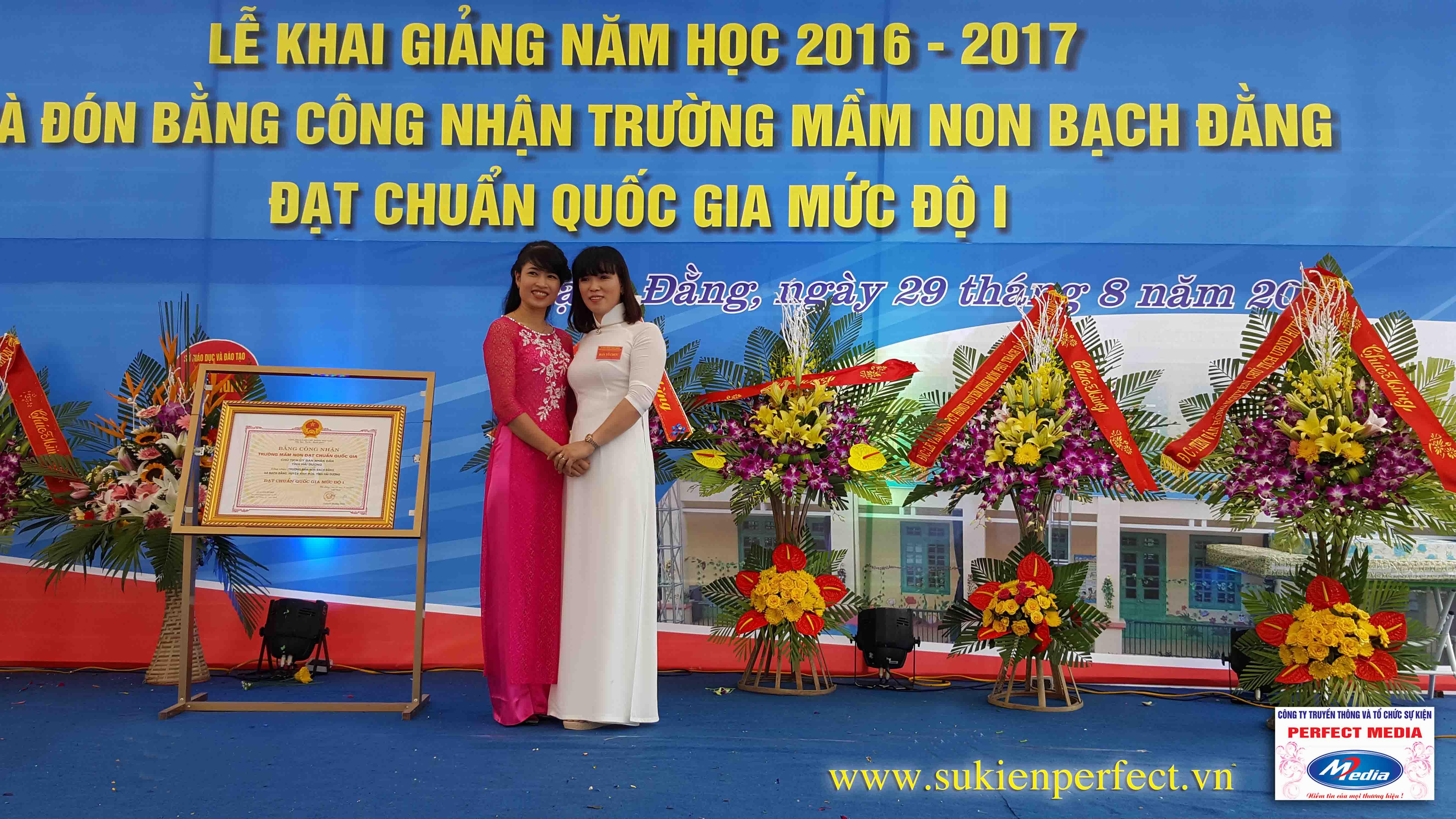 Lễ khai giảng năm học 2016 - 2017 của trường mầm non Bạch Đằng - Kinh Môn 10