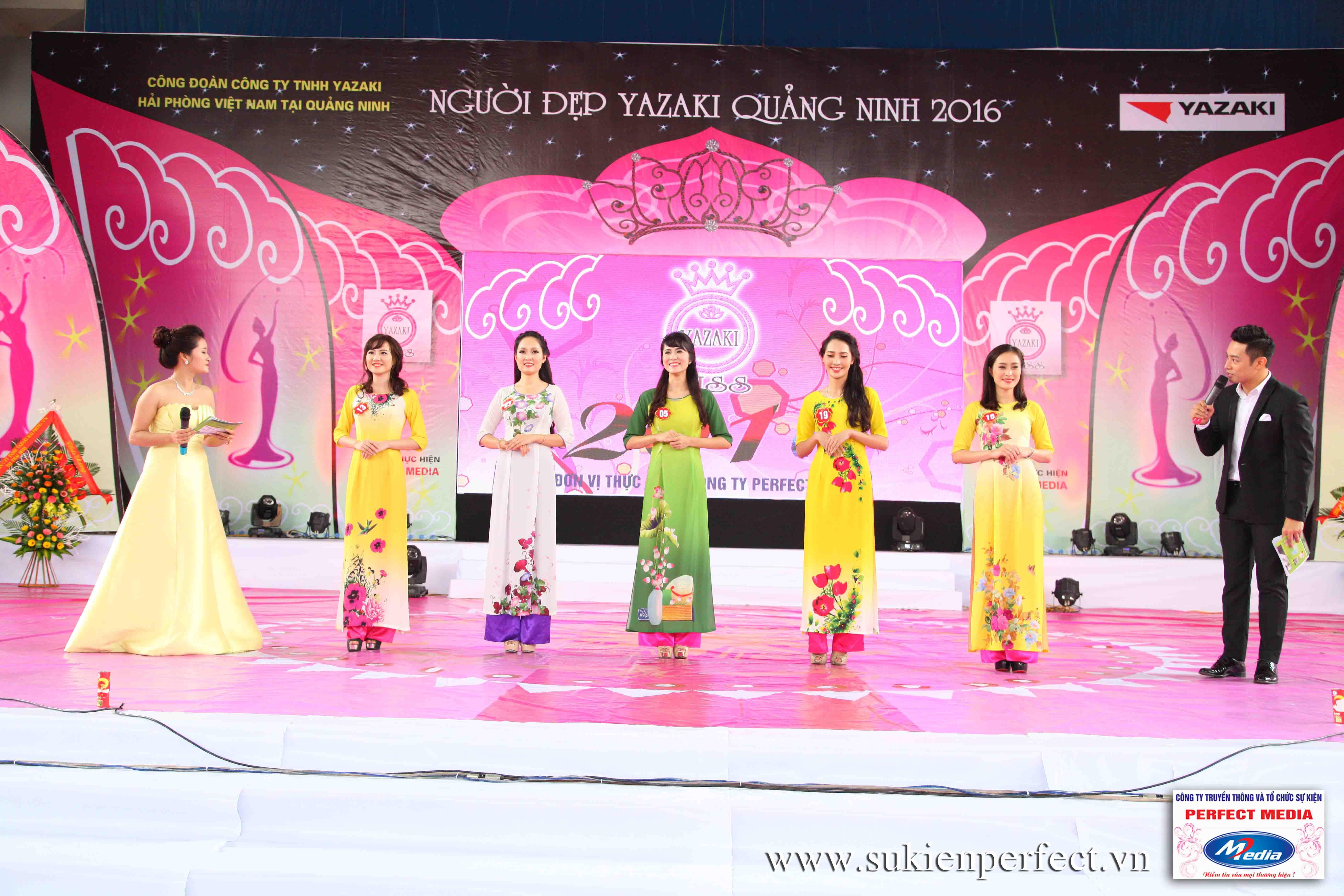 Hình ảnh các người đẹp trong sự kiện Người đẹp Yazaki Quảng Ninh 2016 (Màn đăng quang) - 05