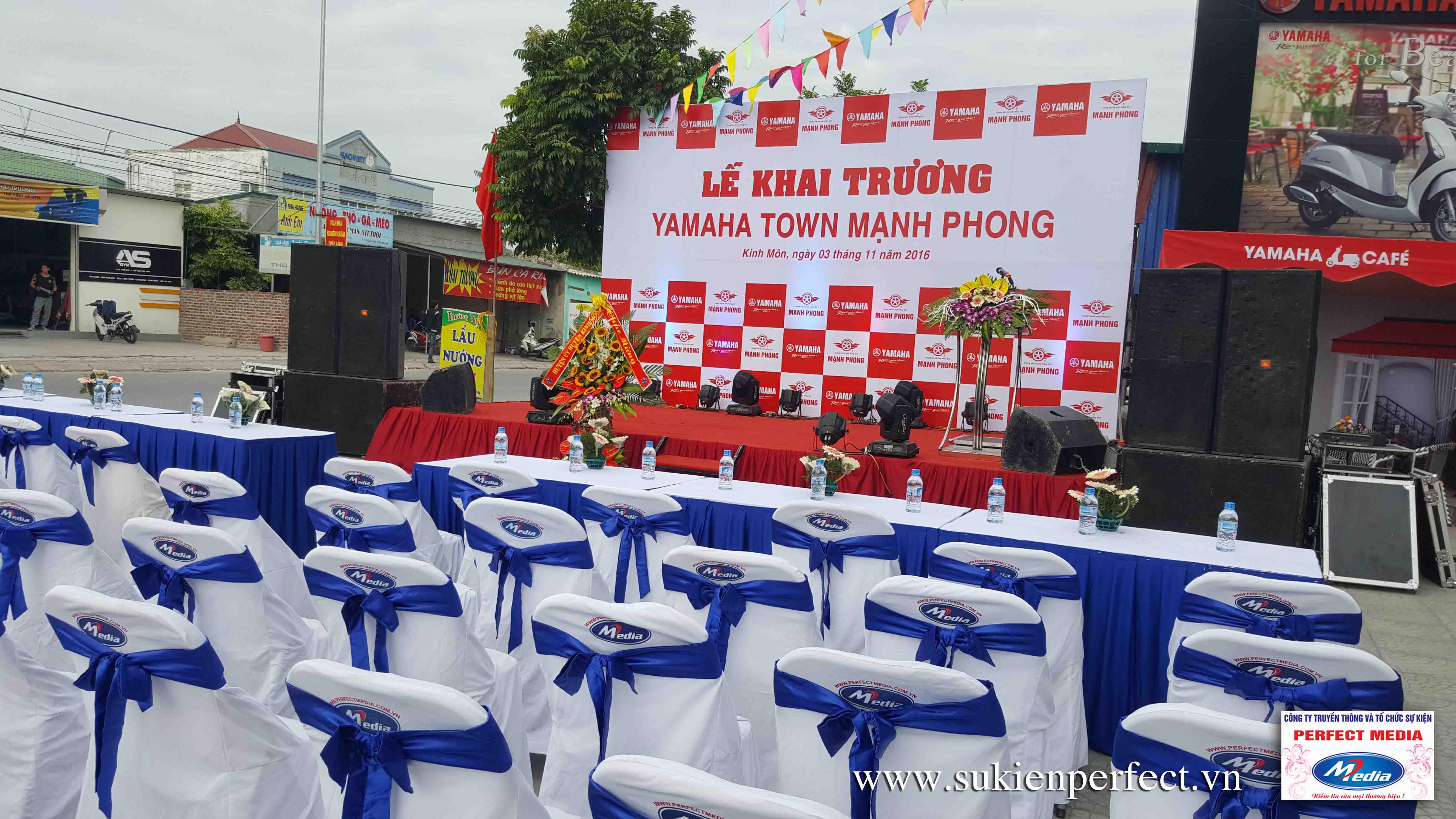 Tổ chức sự kiện Khai trương Yamaha Town Mạnh Phong 01