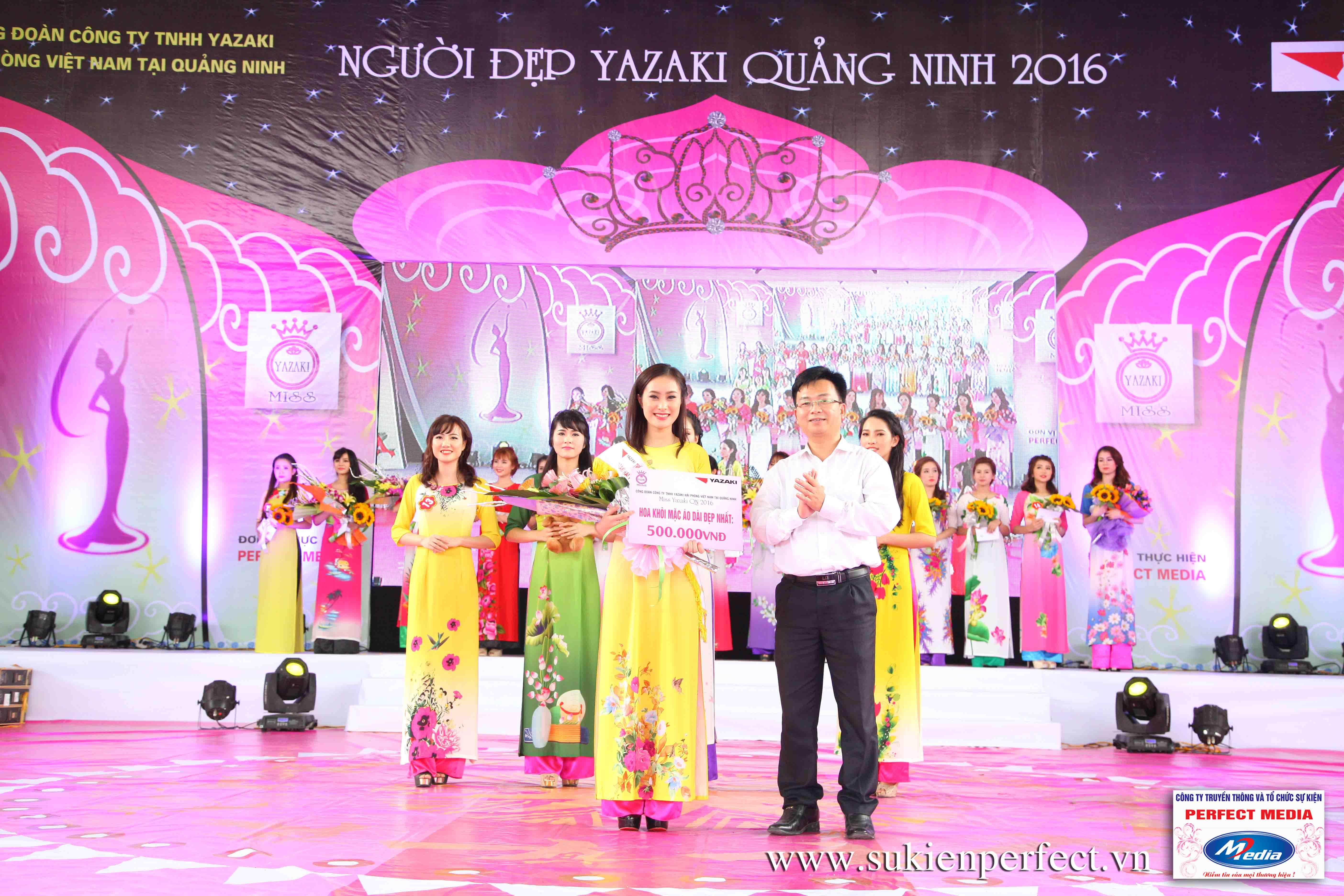 Hình ảnh các người đẹp trong sự kiện Người đẹp Yazaki Quảng Ninh 2016 (Màn đăng quang) - 10