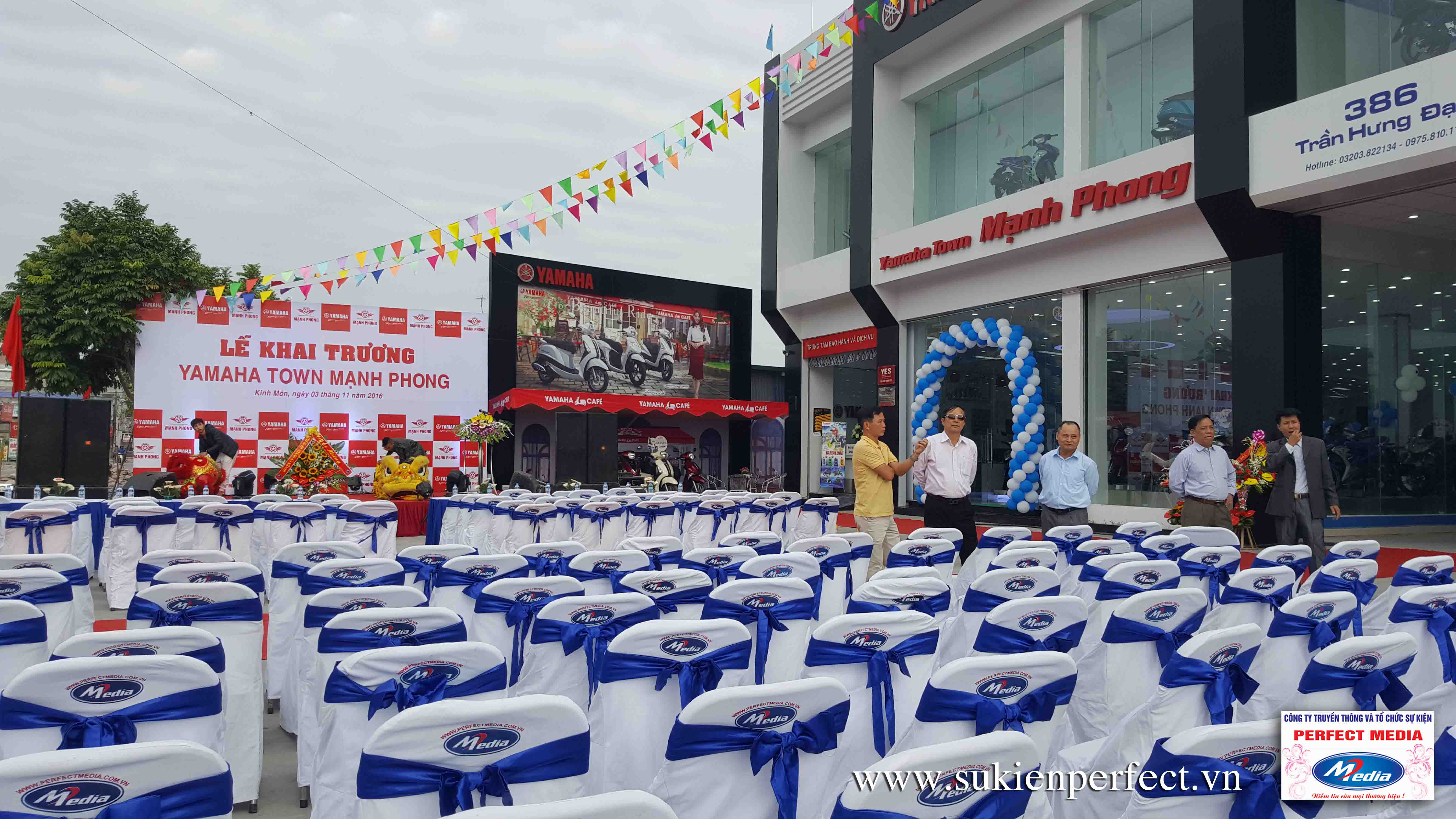 Tổ chức sự kiện Khai trương Yamaha Town Mạnh Phong 02