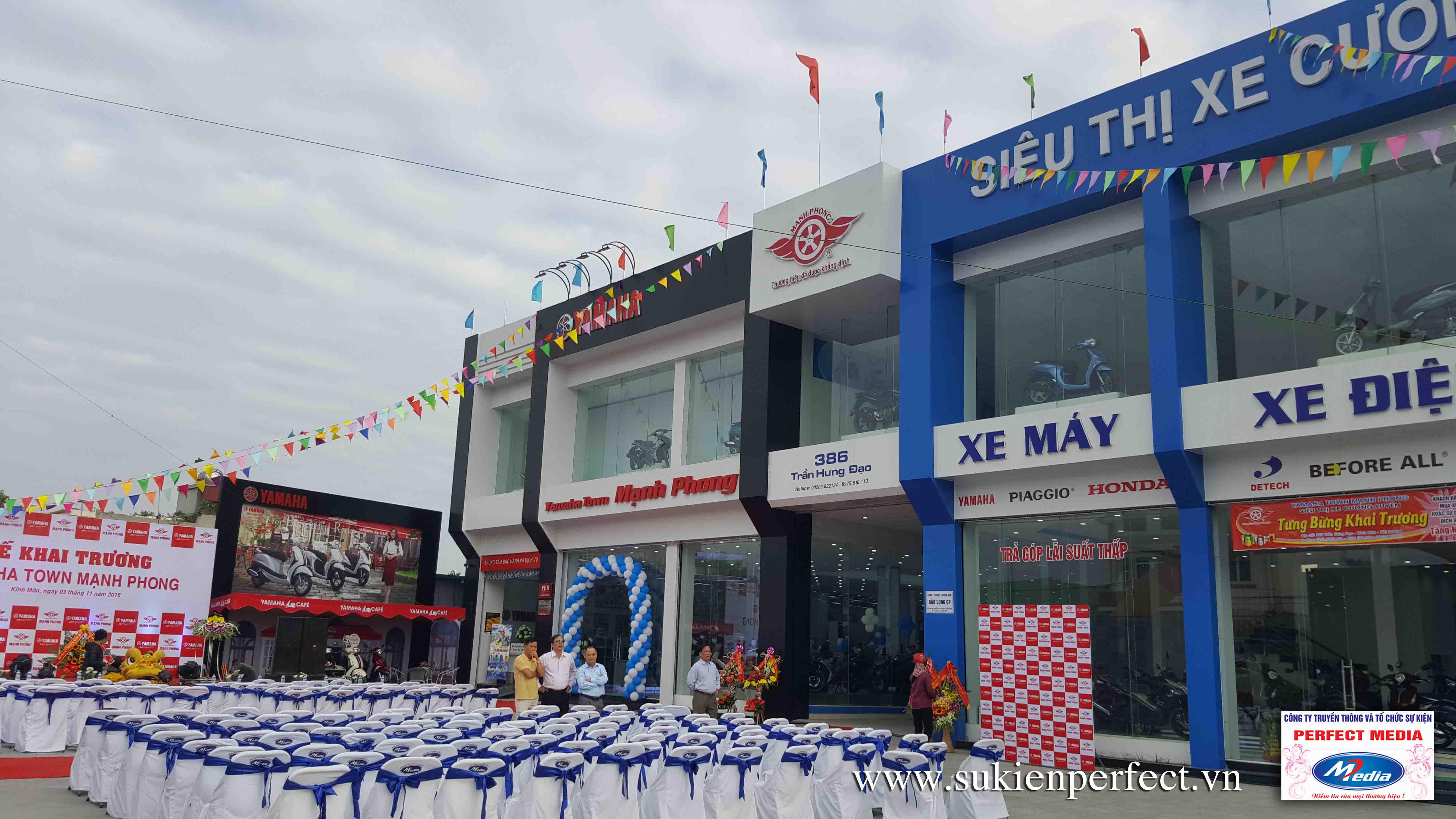 Tổ chức sự kiện Khai trương Yamaha Town Mạnh Phong 03