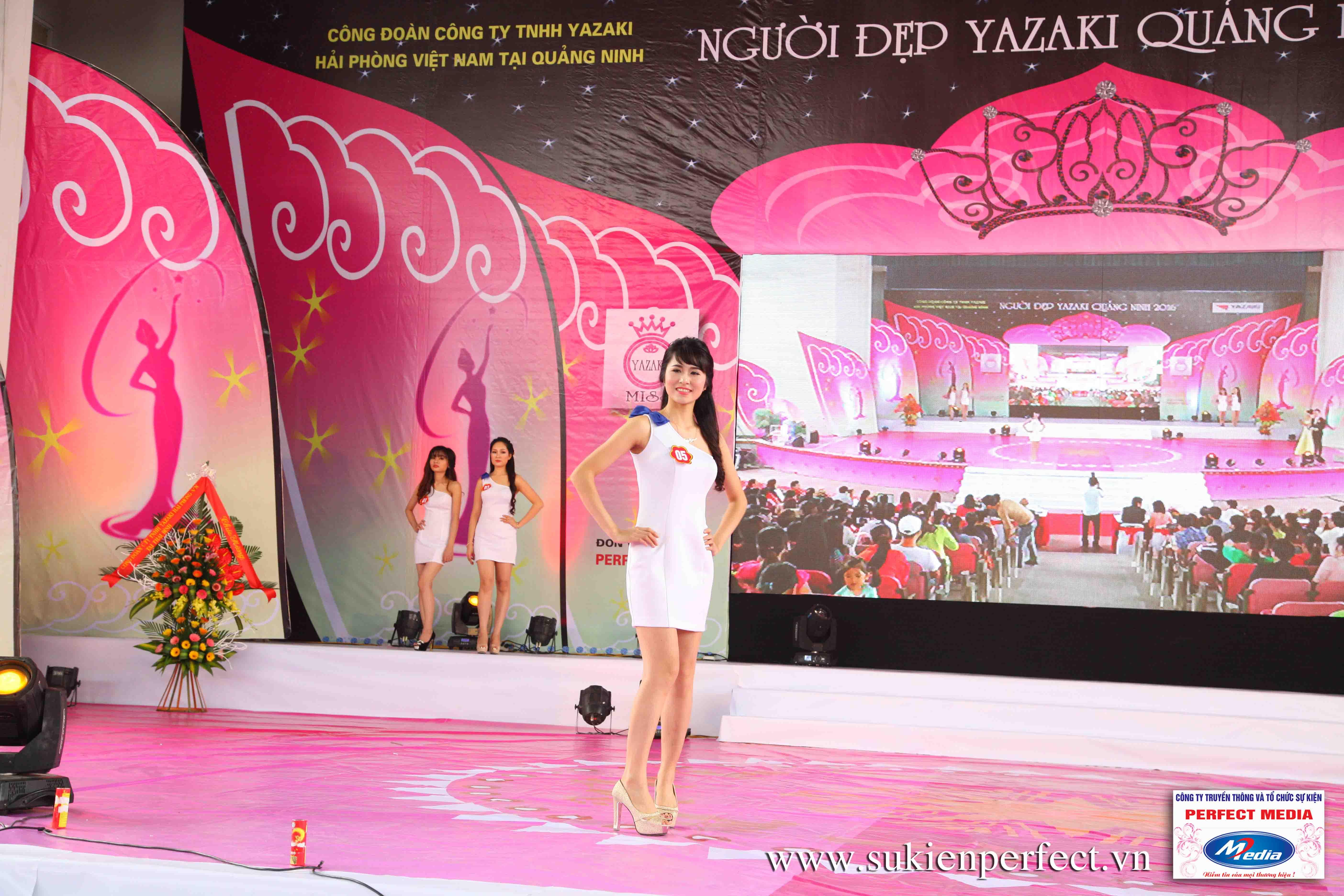 Hình ảnh các thí sinh trong cuộc thi Người đẹp Yazaki Quảng Ninh 2016 (Hình thể) 03