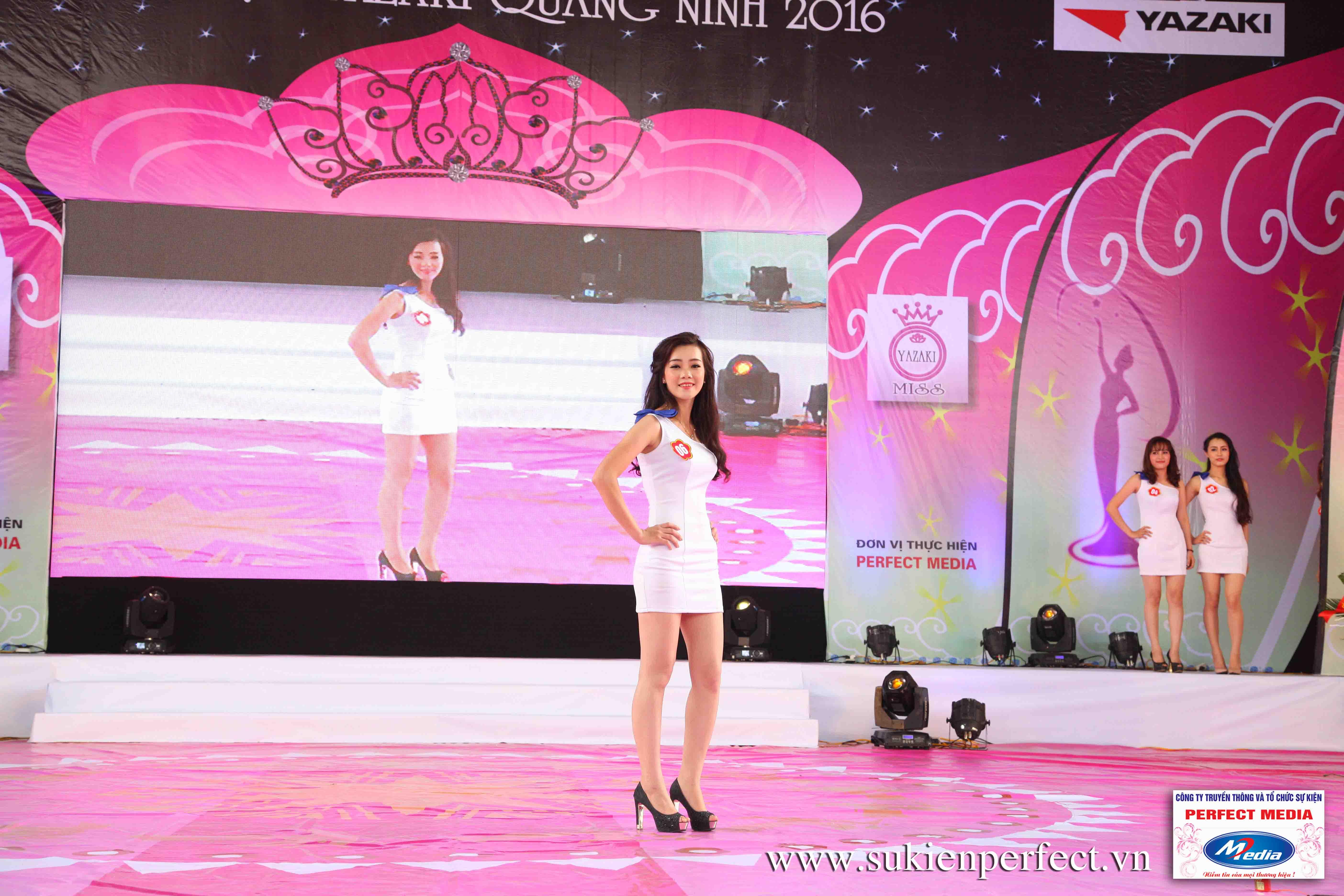 Hình ảnh các thí sinh trong cuộc thi Người đẹp Yazaki Quảng Ninh 2016 (Hình thể) 04