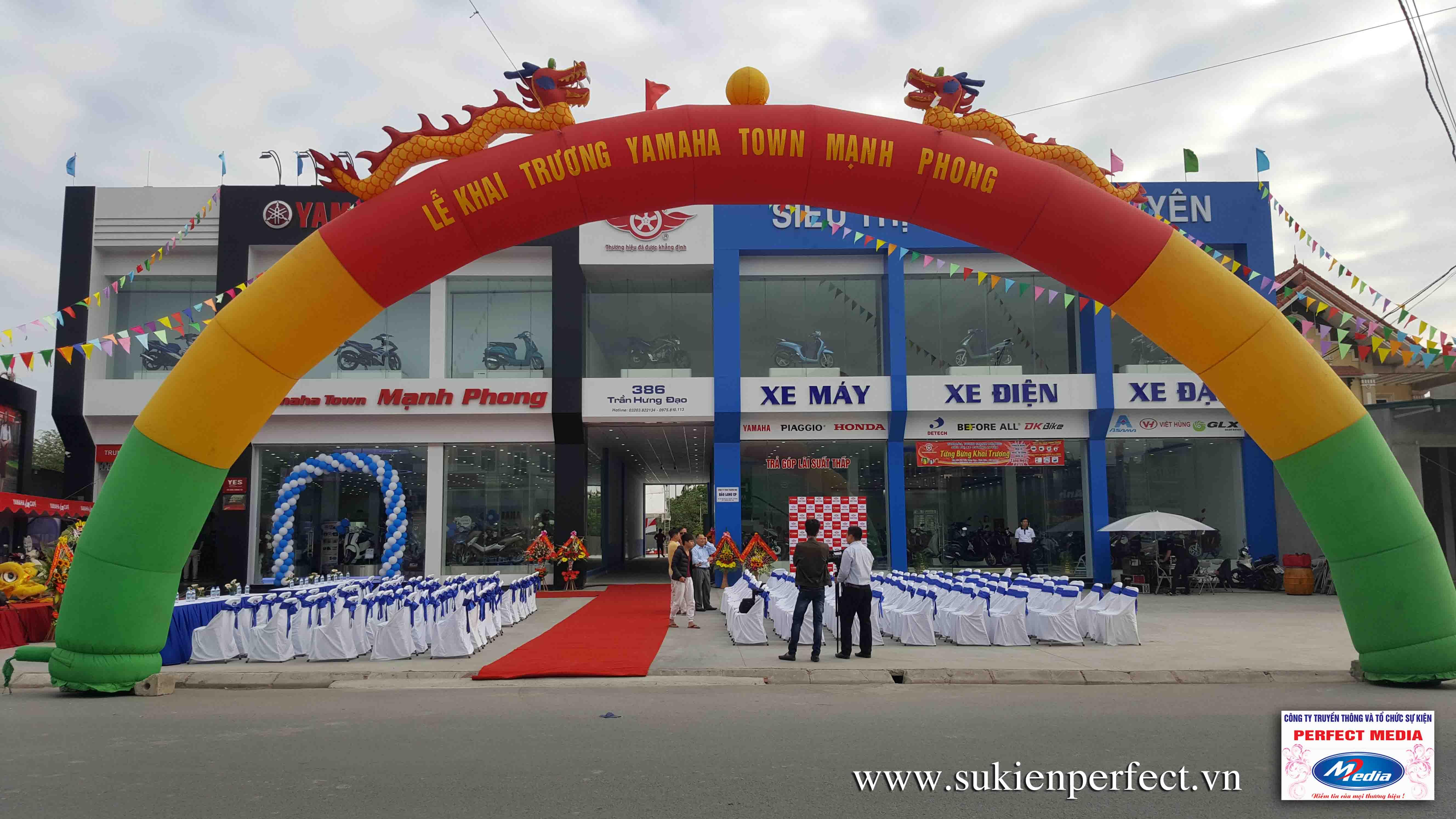 Tổ chức sự kiện Khai trương Yamaha Town Mạnh Phong 04