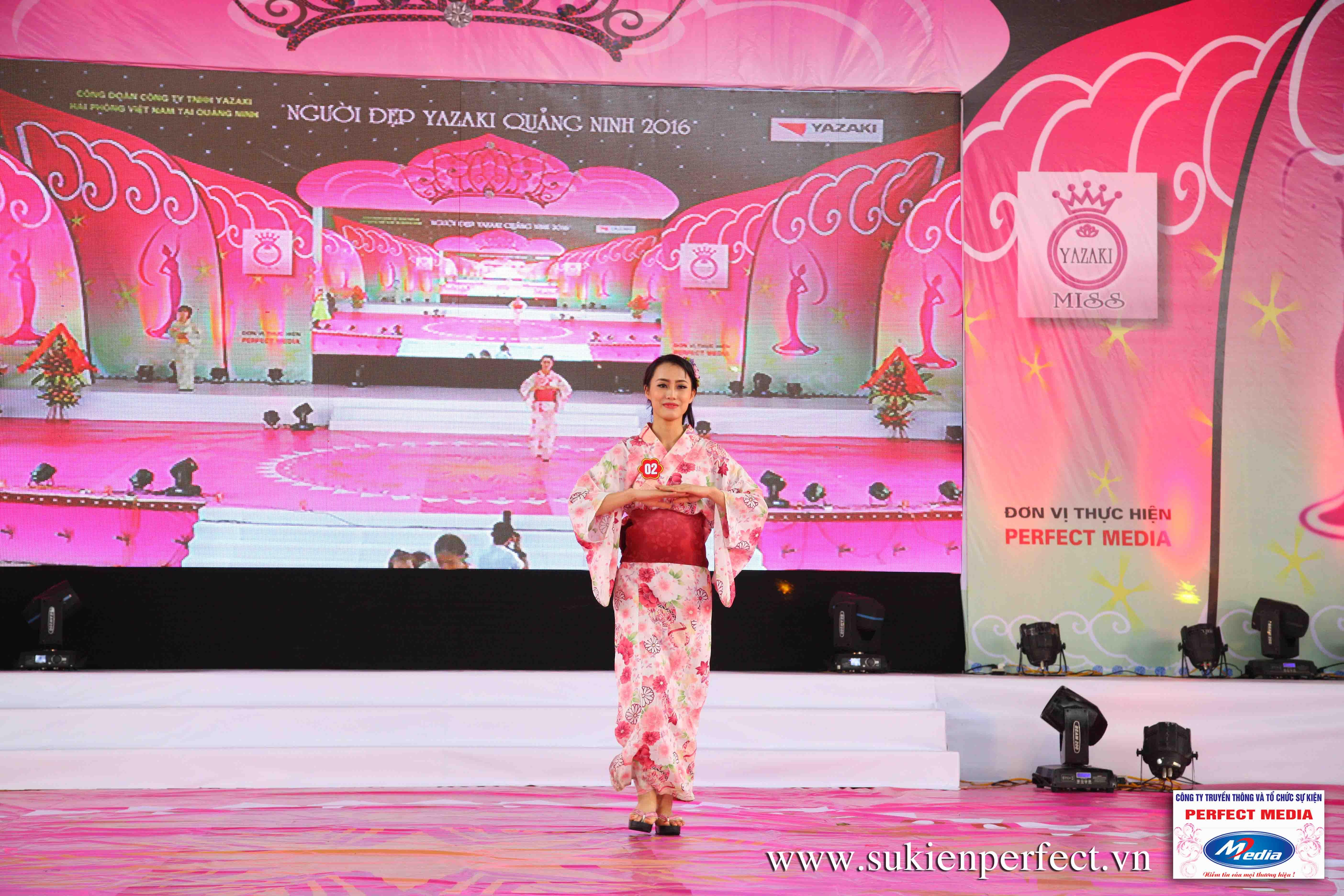 Hình ảnh các thí sinh trong trang phục Kimono - Người đẹp Yazaki Quảng Ninh 2016 - 03