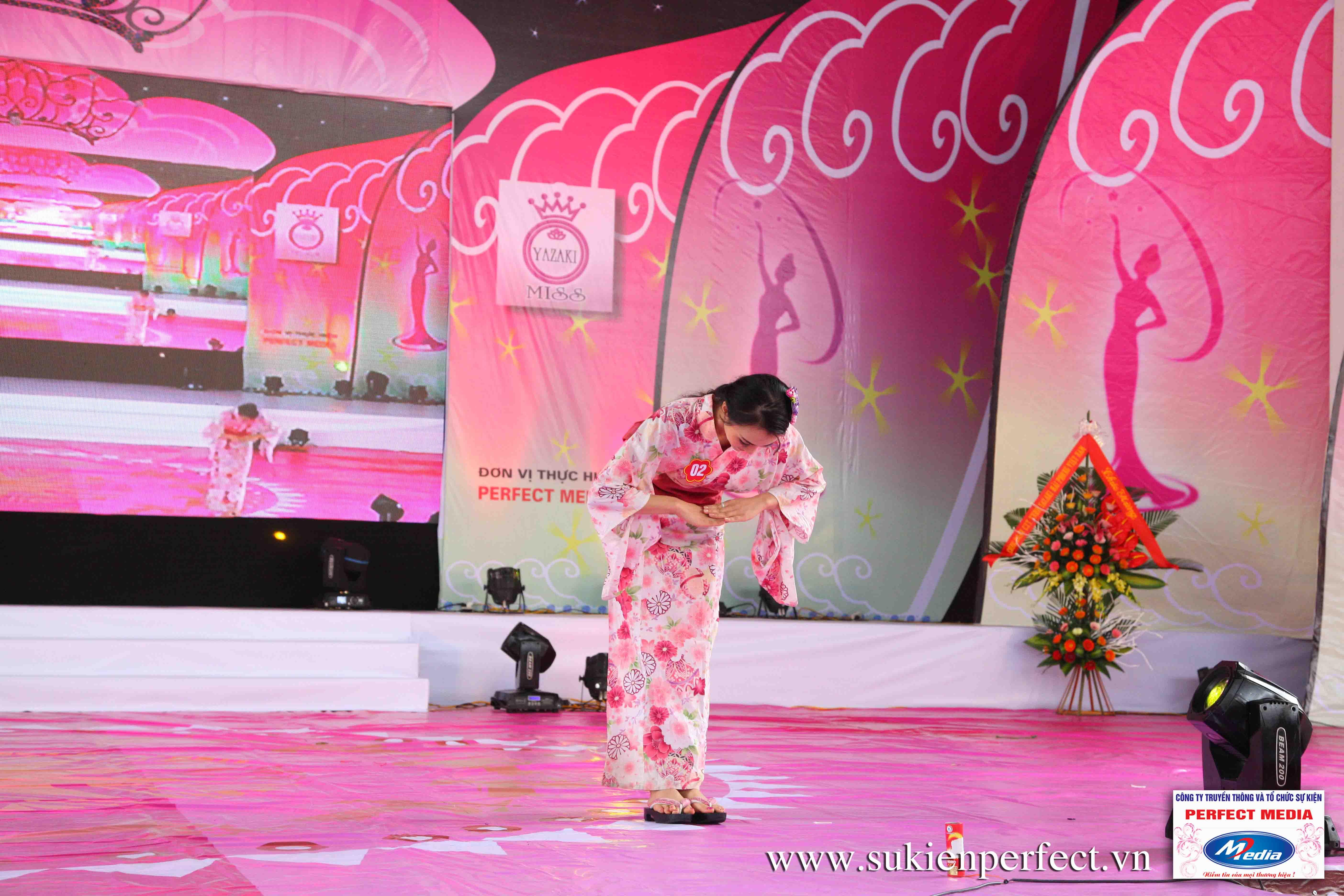 Hình ảnh các thí sinh trong trang phục Kimono - Người đẹp Yazaki Quảng Ninh 2016 - 04