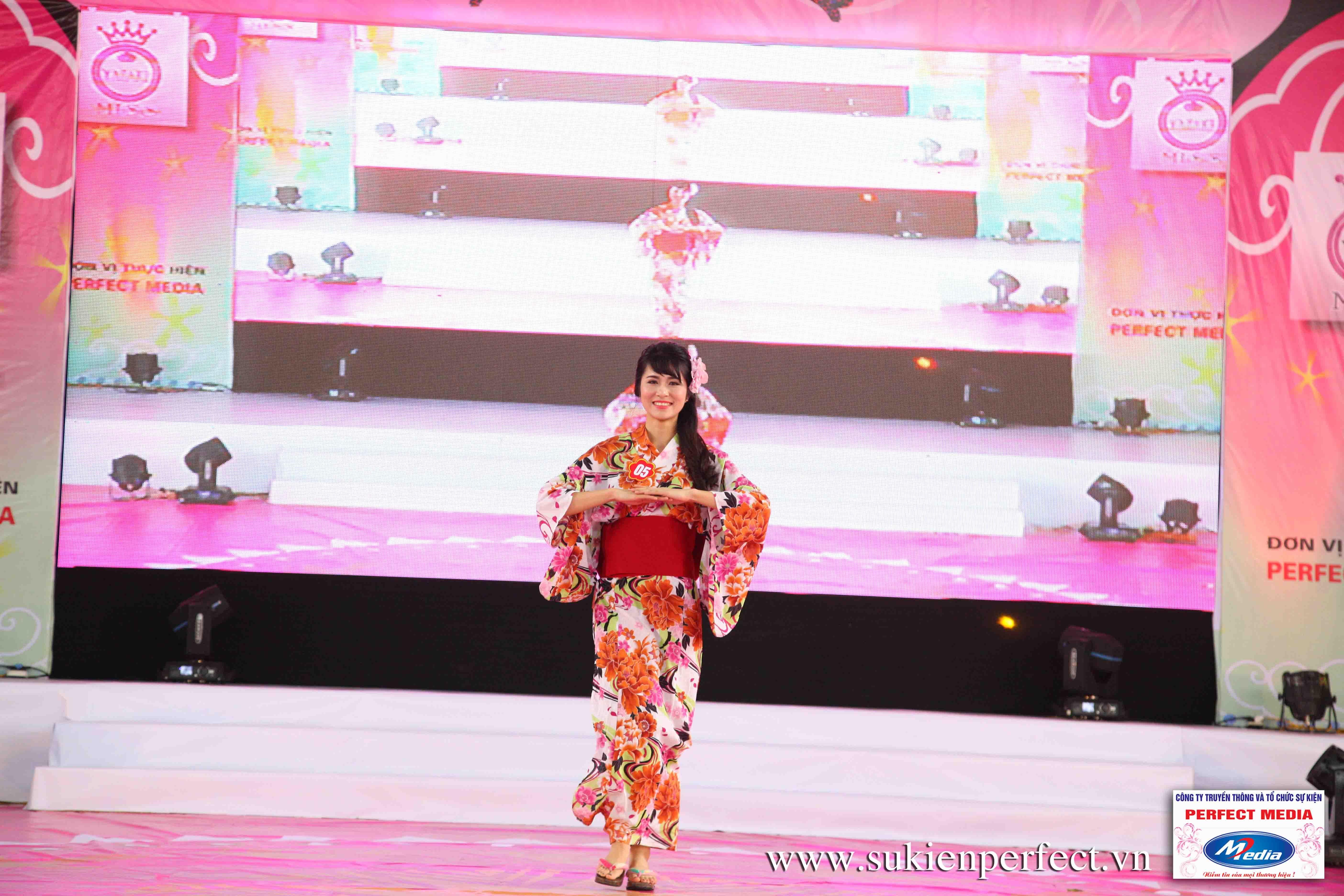 Hình ảnh các thí sinh trong trang phục Kimono - Người đẹp Yazaki Quảng Ninh 2016 - 06