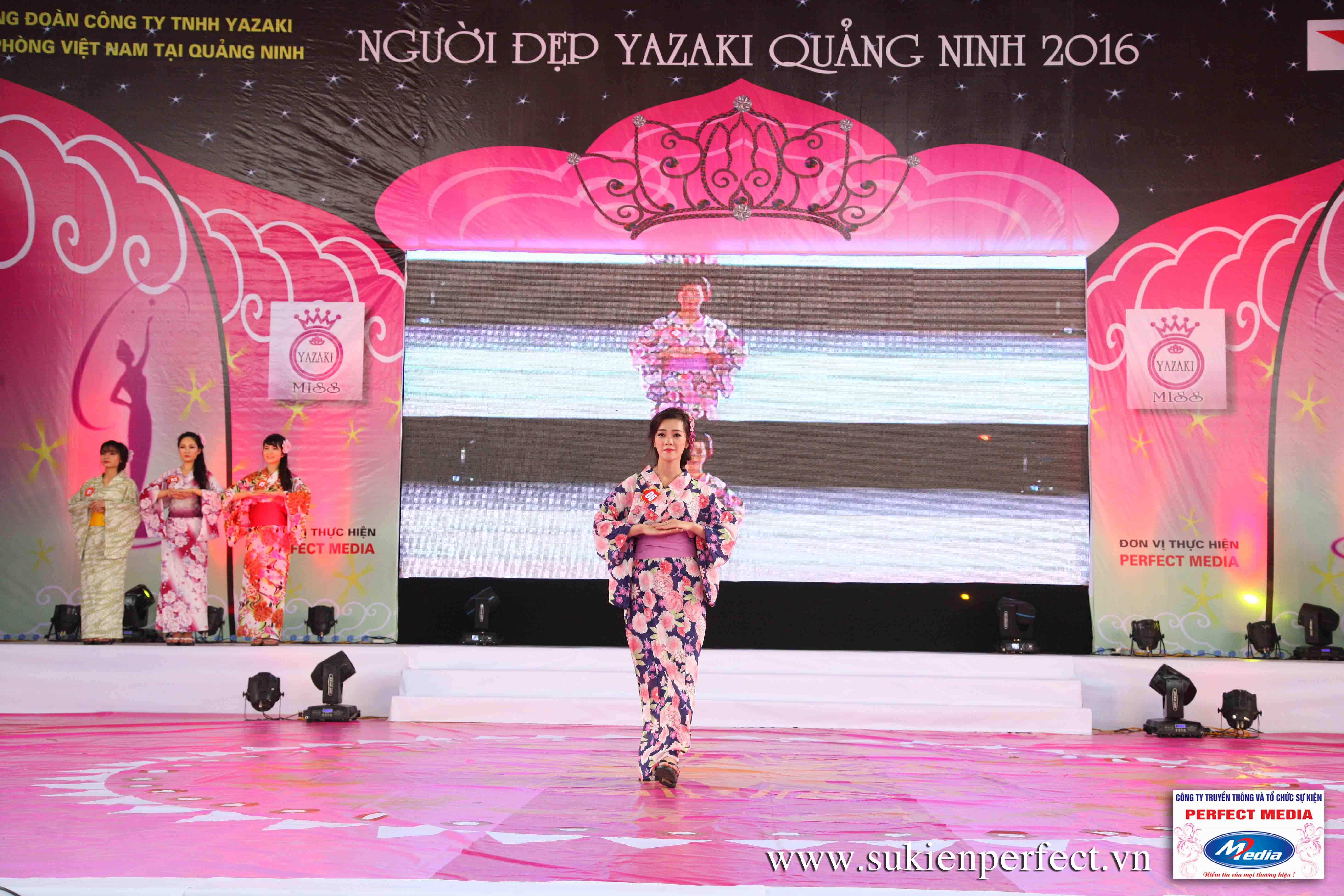 Hình ảnh các thí sinh trong trang phục Kimono - Người đẹp Yazaki Quảng Ninh 2016 - 07