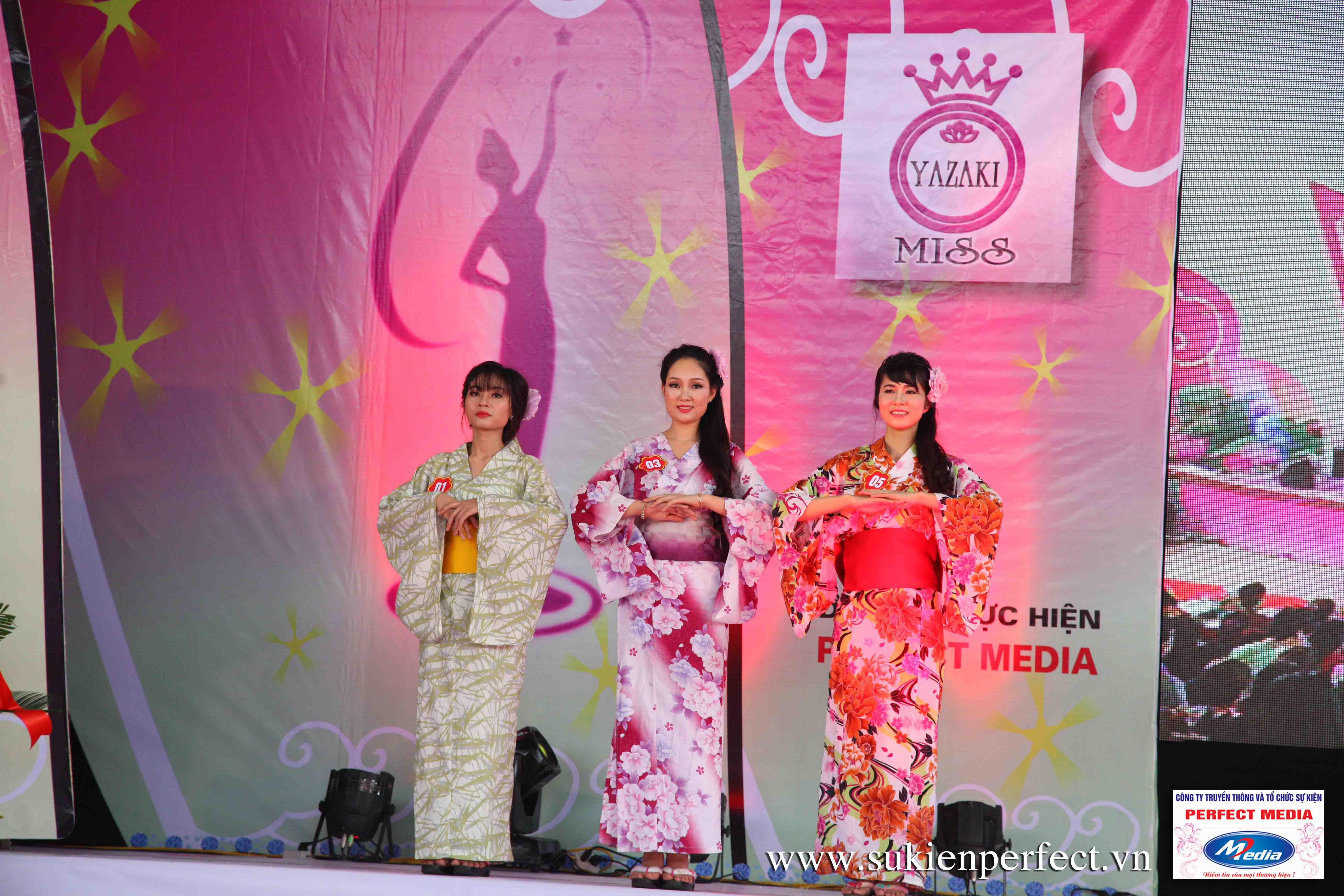 Hình ảnh các thí sinh trong trang phục Kimono - Người đẹp Yazaki Quảng Ninh 2016 - 08