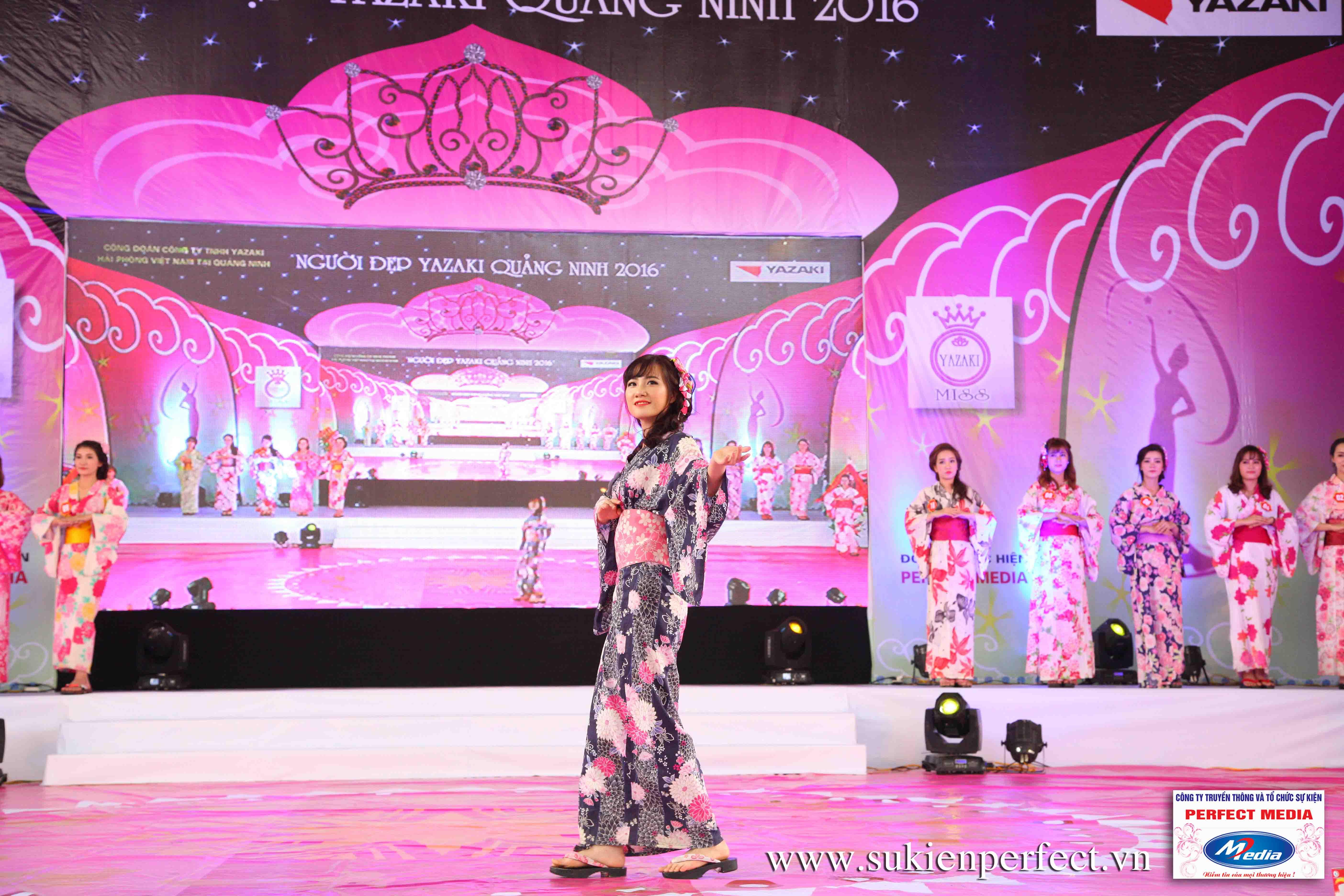 Hình ảnh các thí sinh trong trang phục Kimono - Người đẹp Yazaki Quảng Ninh 2016 - 13