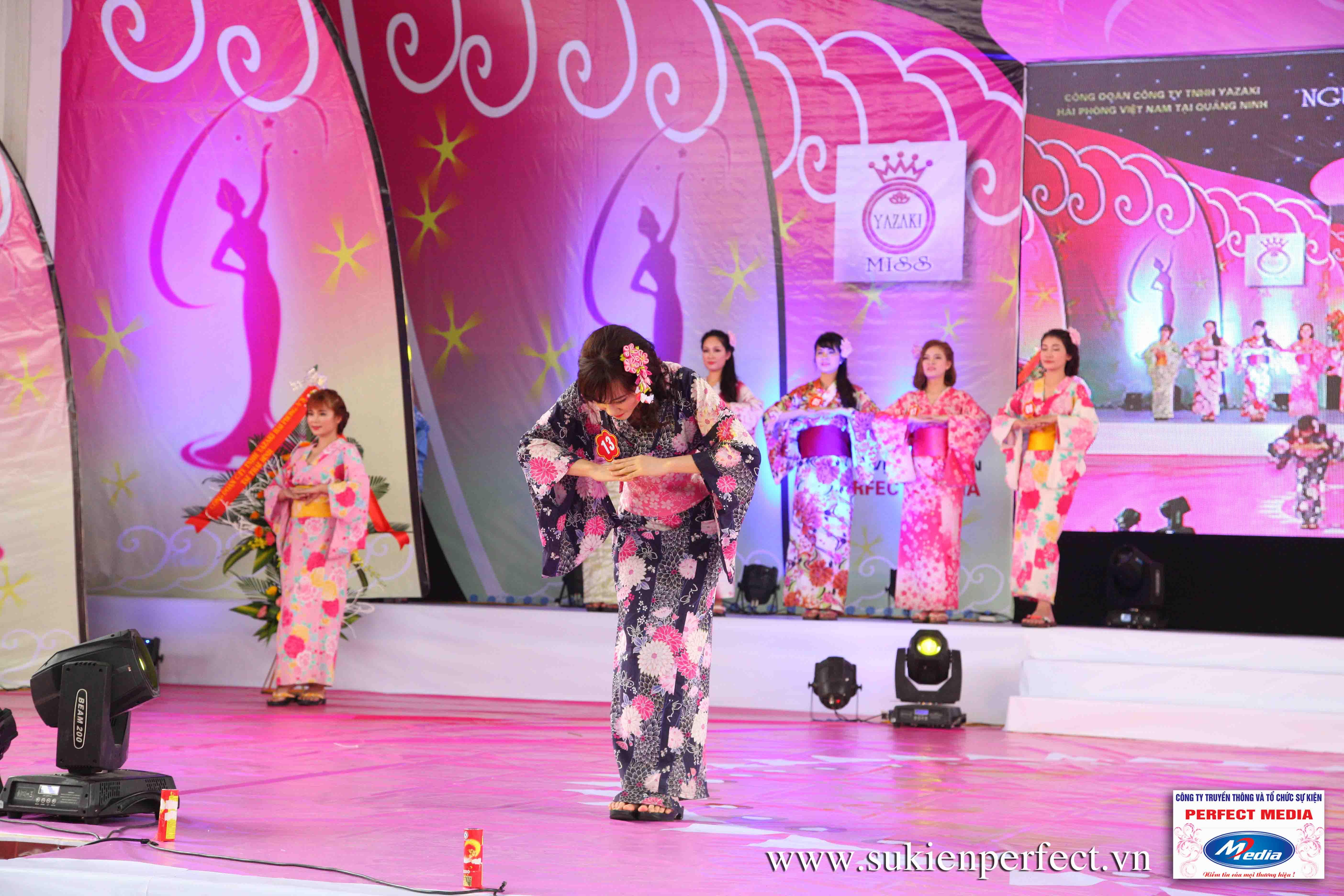 Hình ảnh các thí sinh trong trang phục Kimono - Người đẹp Yazaki Quảng Ninh 2016 - 14