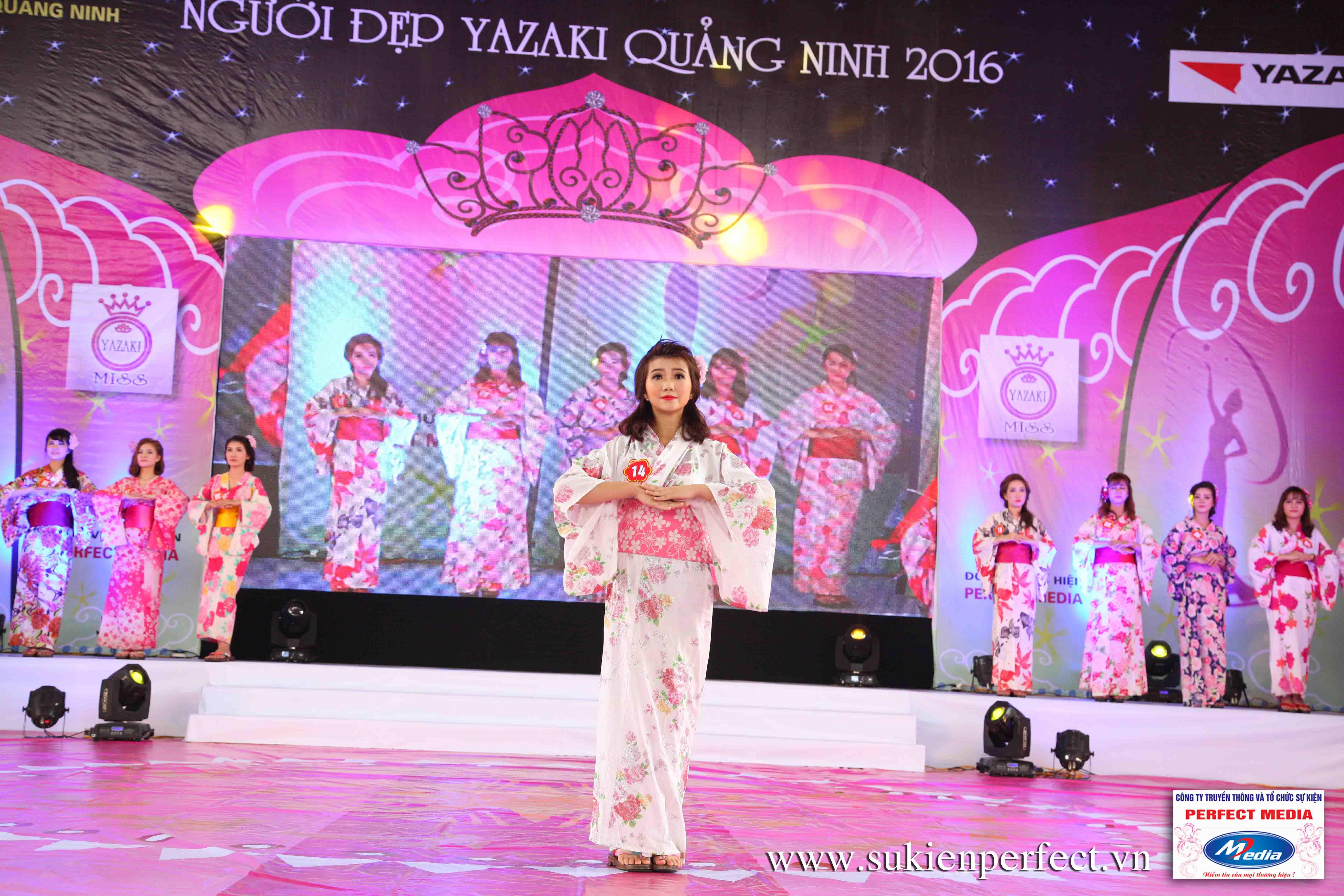 Hình ảnh các thí sinh trong trang phục Kimono - Người đẹp Yazaki Quảng Ninh 2016 - 15