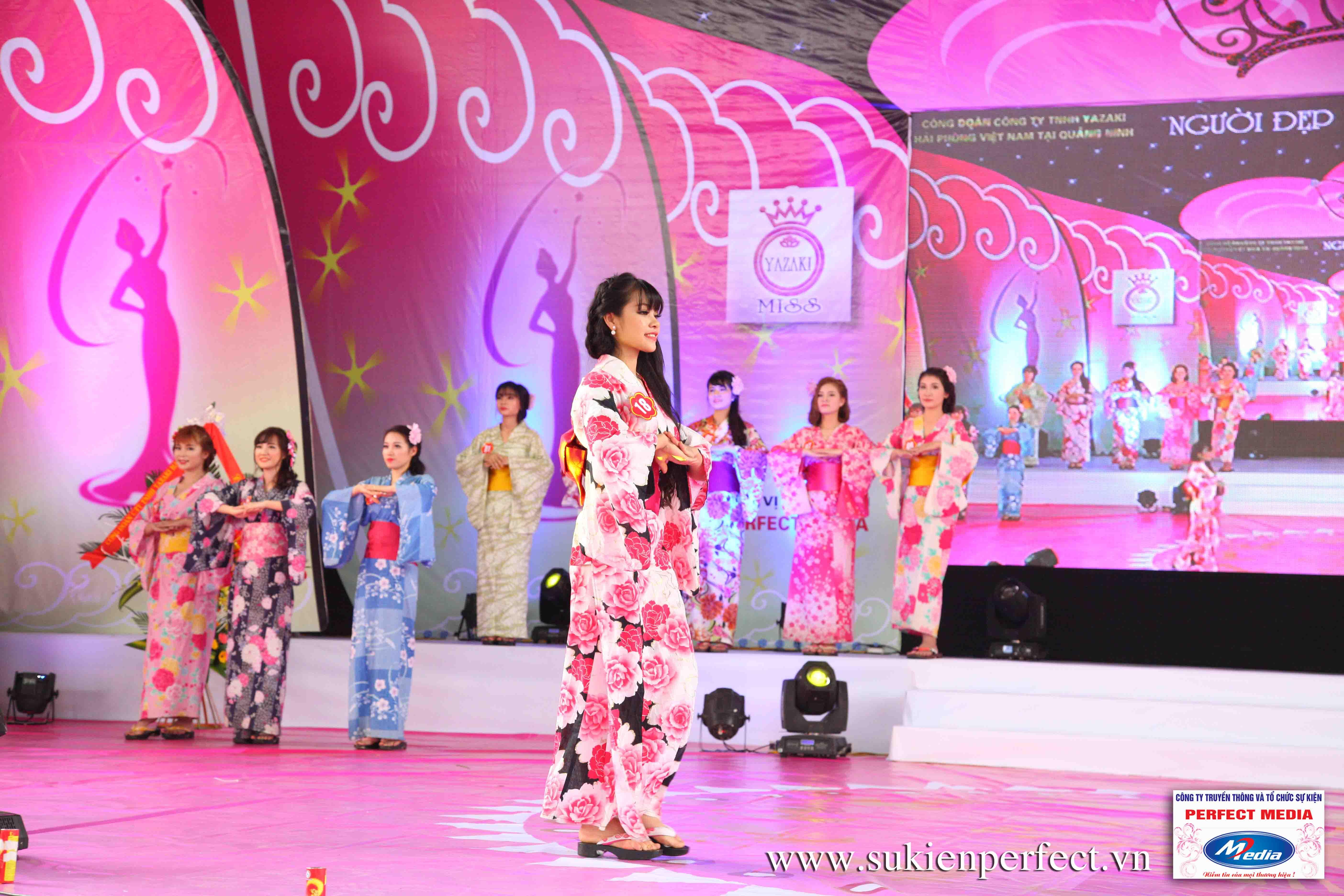 Hình ảnh các thí sinh trong trang phục Kimono - Người đẹp Yazaki Quảng Ninh 2016 - 18