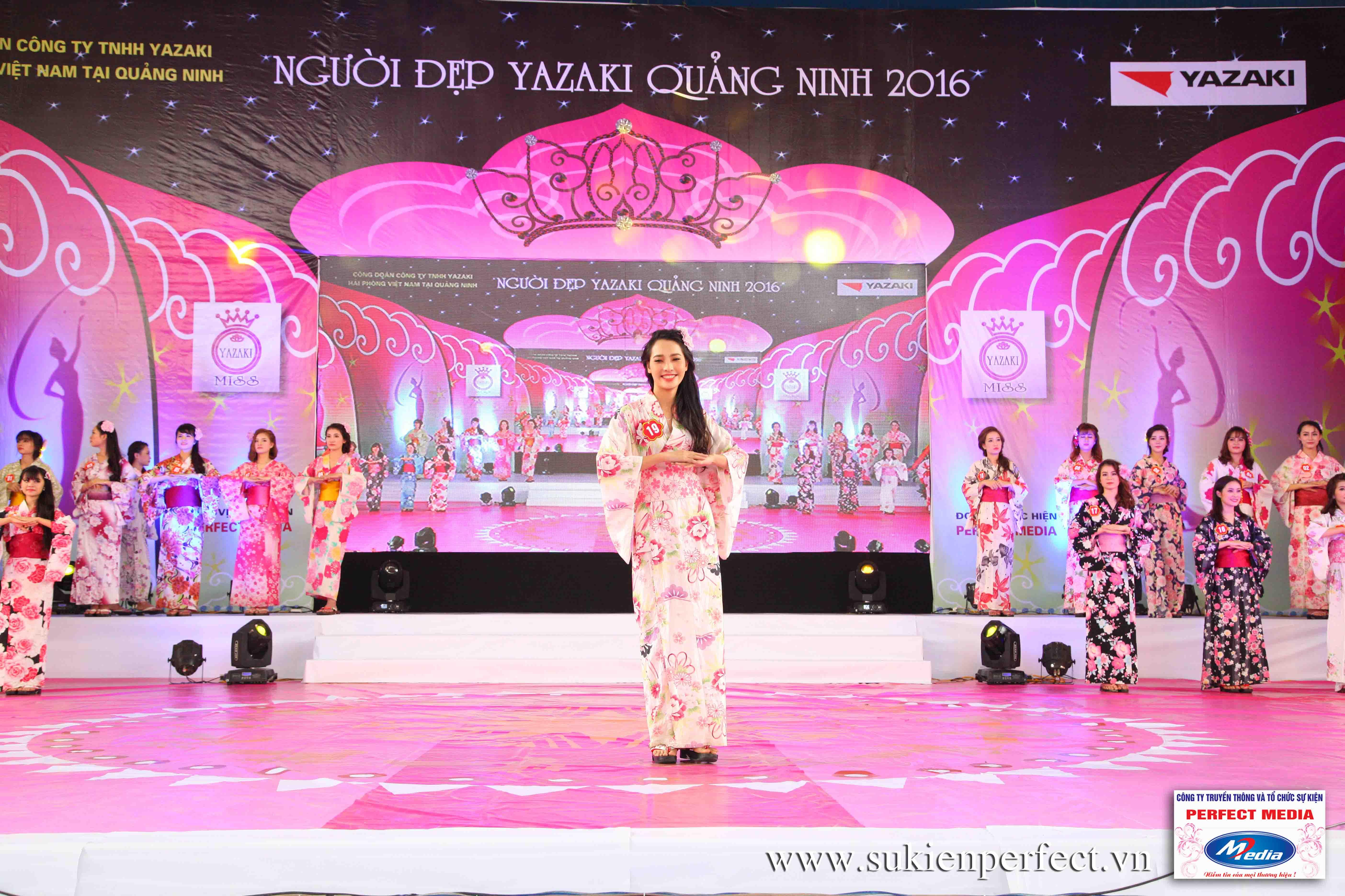 Hình ảnh các thí sinh trong trang phục Kimono - Người đẹp Yazaki Quảng Ninh 2016 - 19