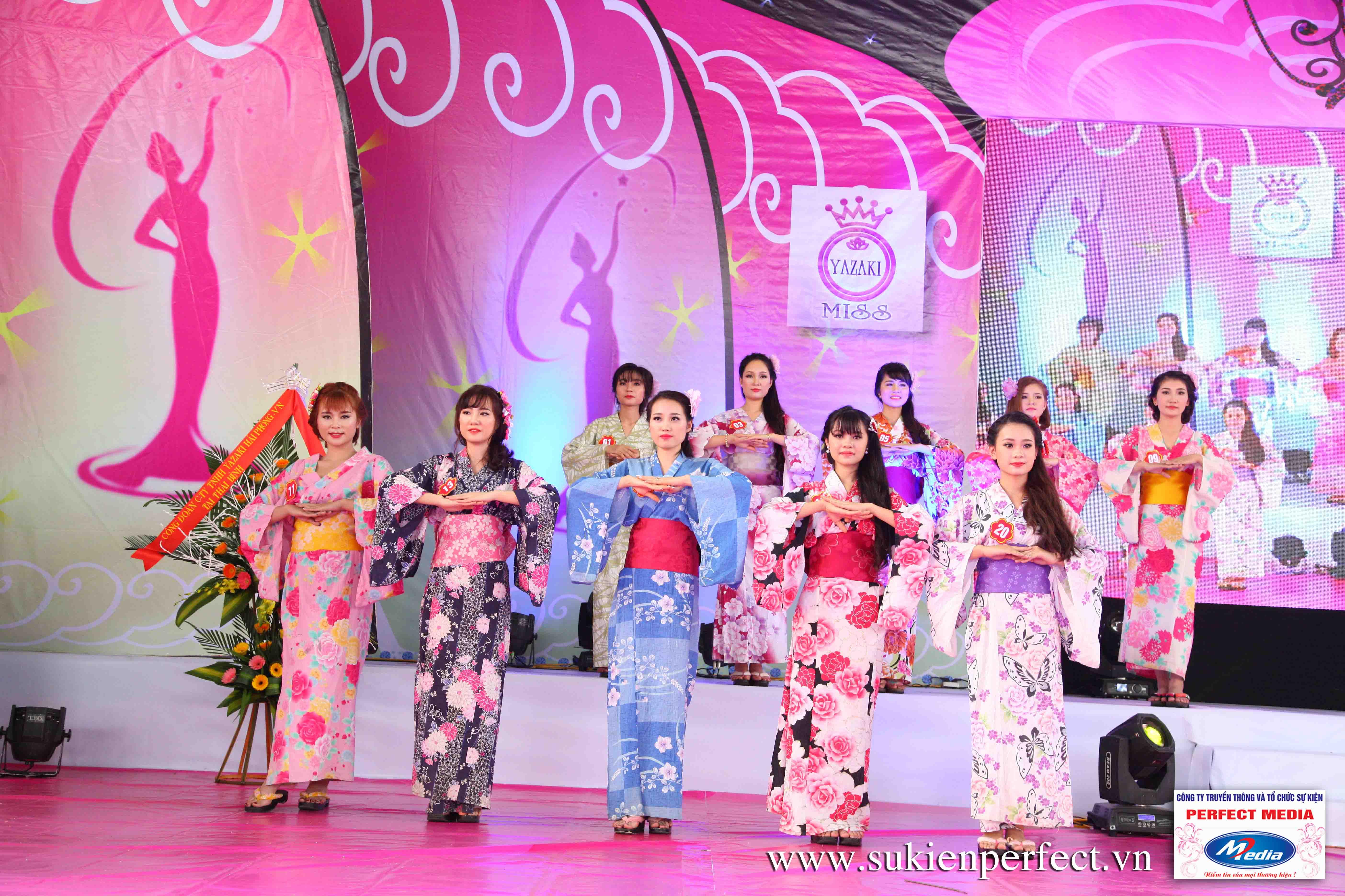 Hình ảnh các thí sinh trong trang phục Kimono - Người đẹp Yazaki Quảng Ninh 2016 - 21