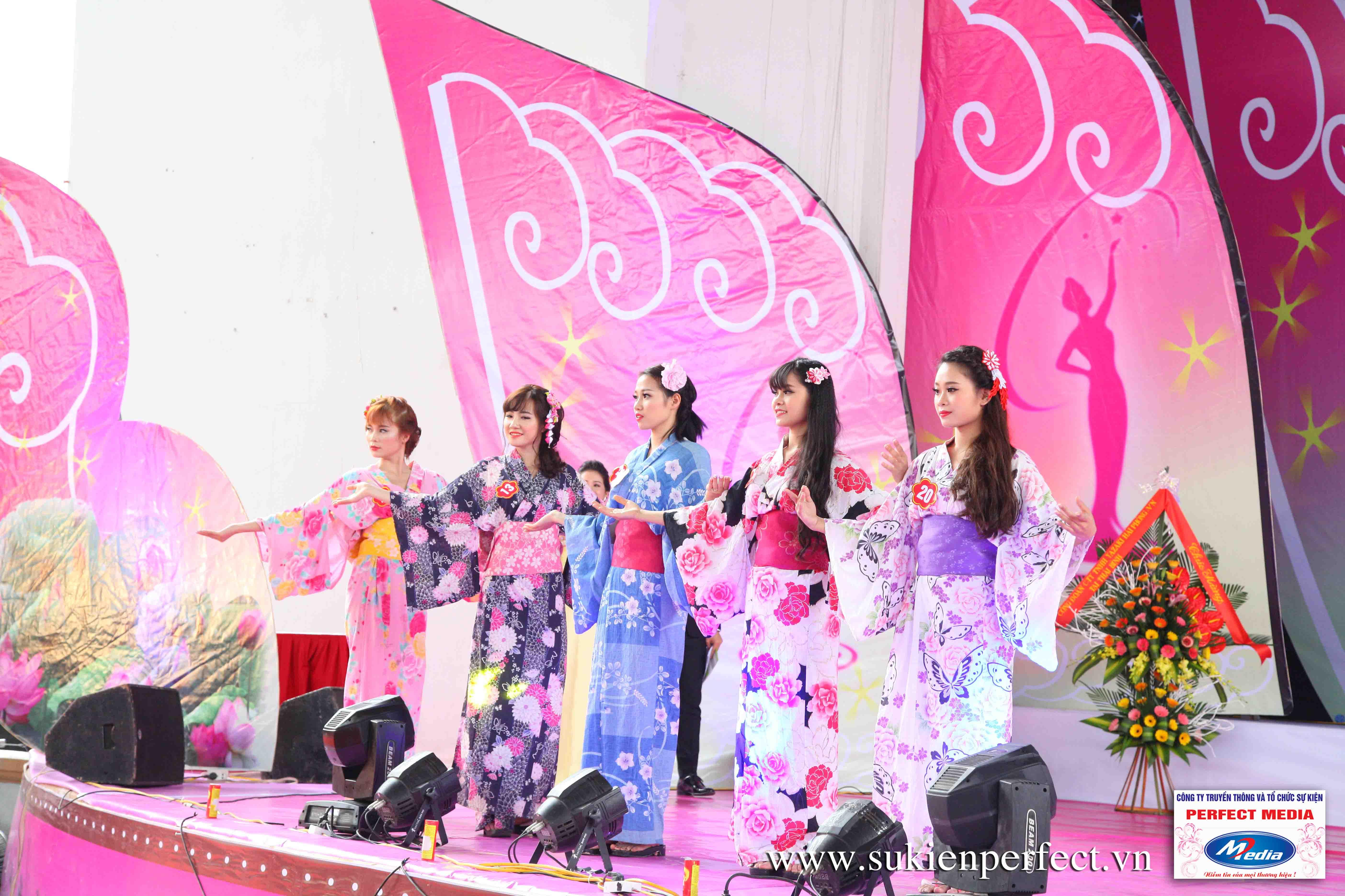 Hình ảnh các thí sinh trong trang phục Kimono - Người đẹp Yazaki Quảng Ninh 2016 - 22