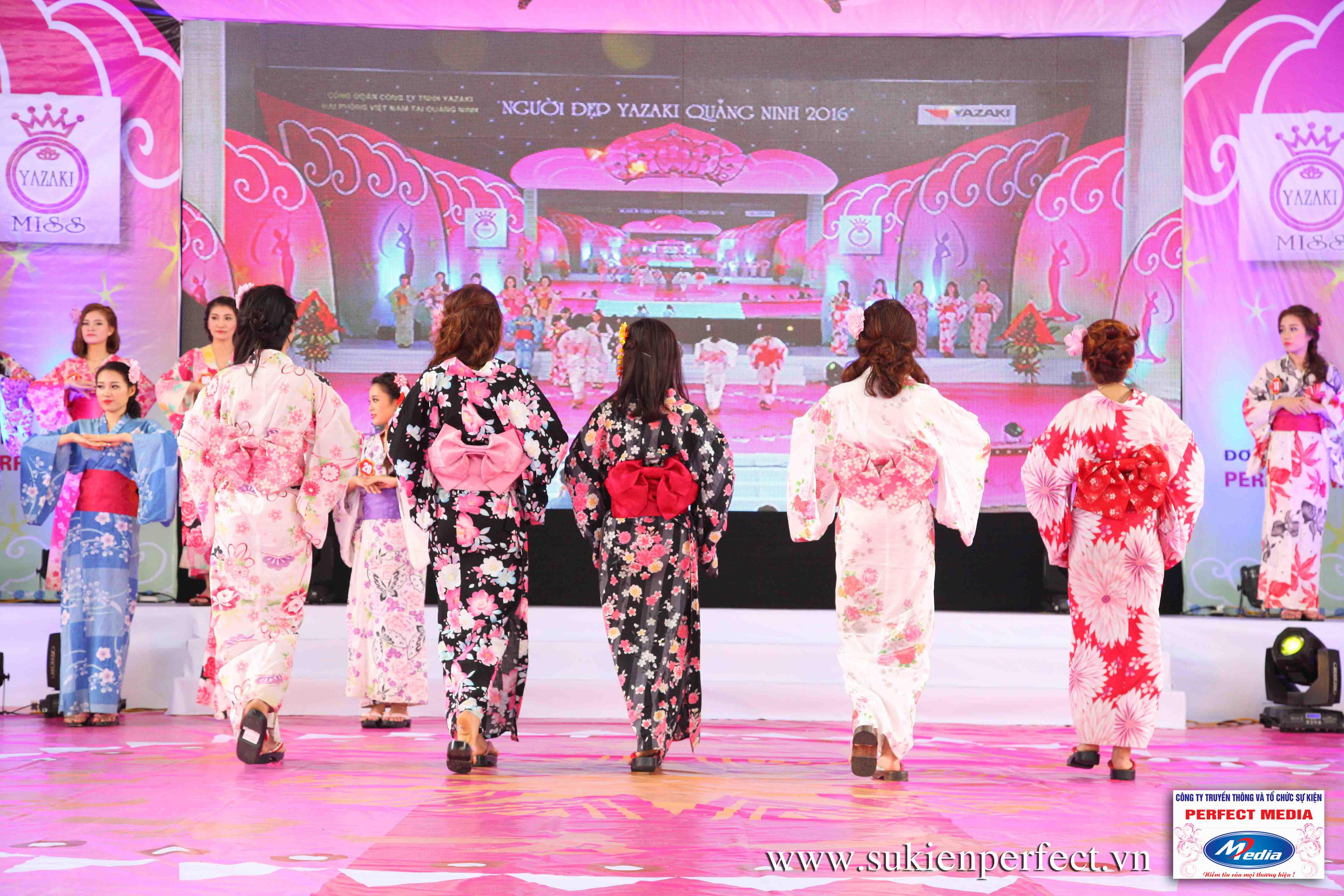 Hình ảnh các thí sinh trong trang phục Kimono - Người đẹp Yazaki Quảng Ninh 2016 - 26