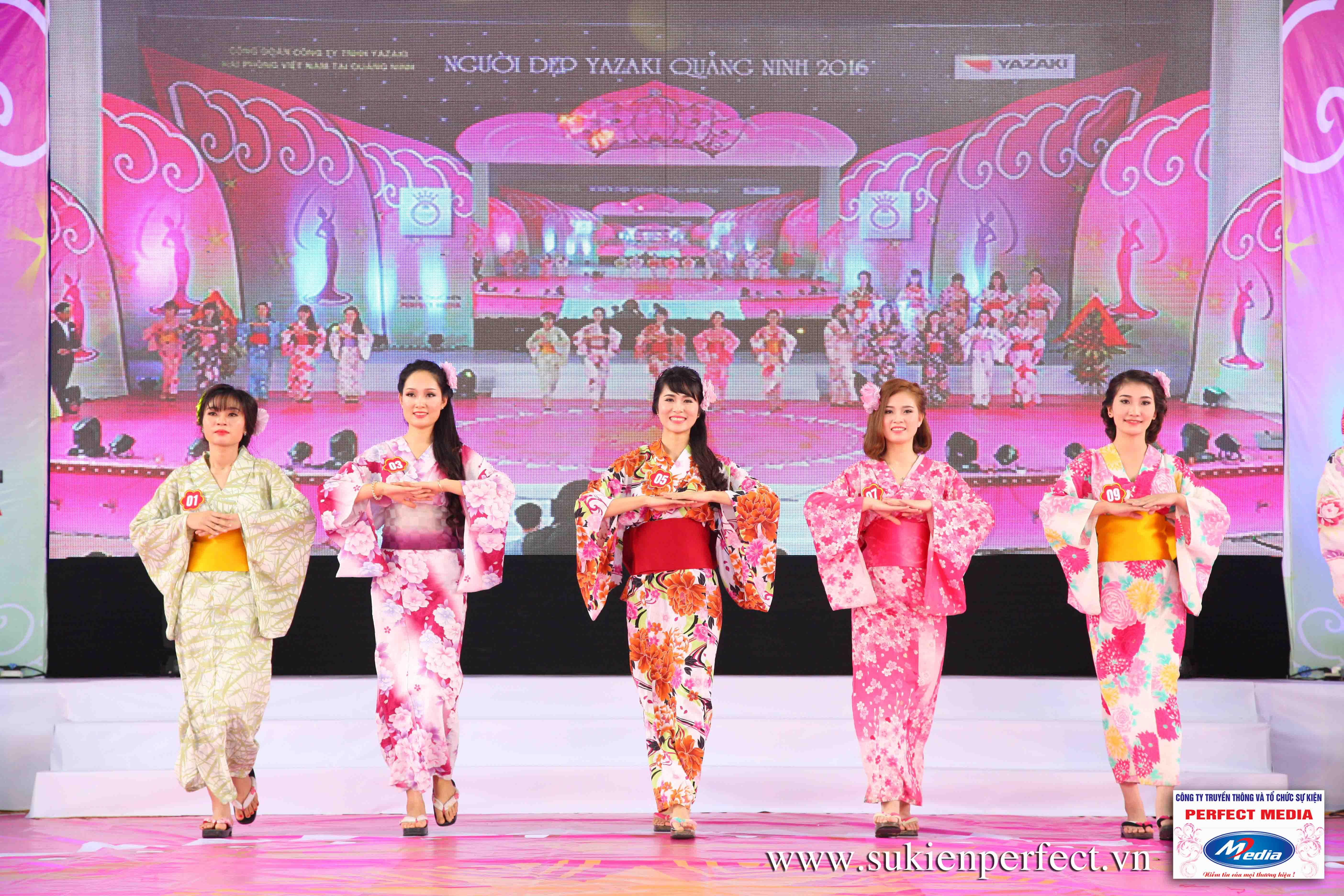 Hình ảnh các thí sinh trong trang phục Kimono - Người đẹp Yazaki Quảng Ninh 2016 - 27
