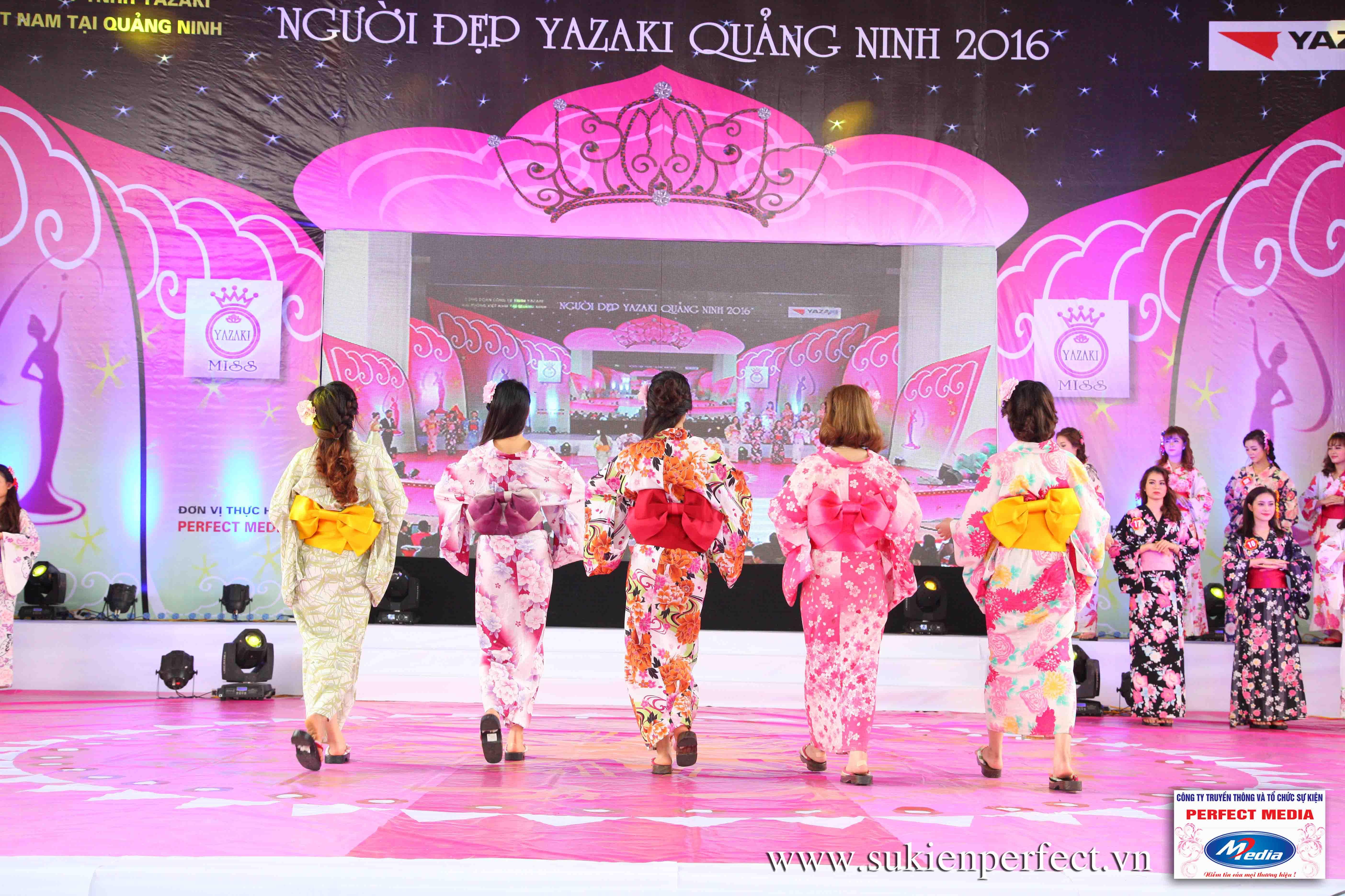 Hình ảnh các thí sinh trong trang phục Kimono - Người đẹp Yazaki Quảng Ninh 2016 - 28