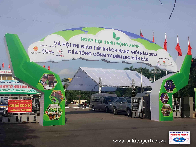 Cổng chào sự kiện Ngày hội Hành động xanh 2014