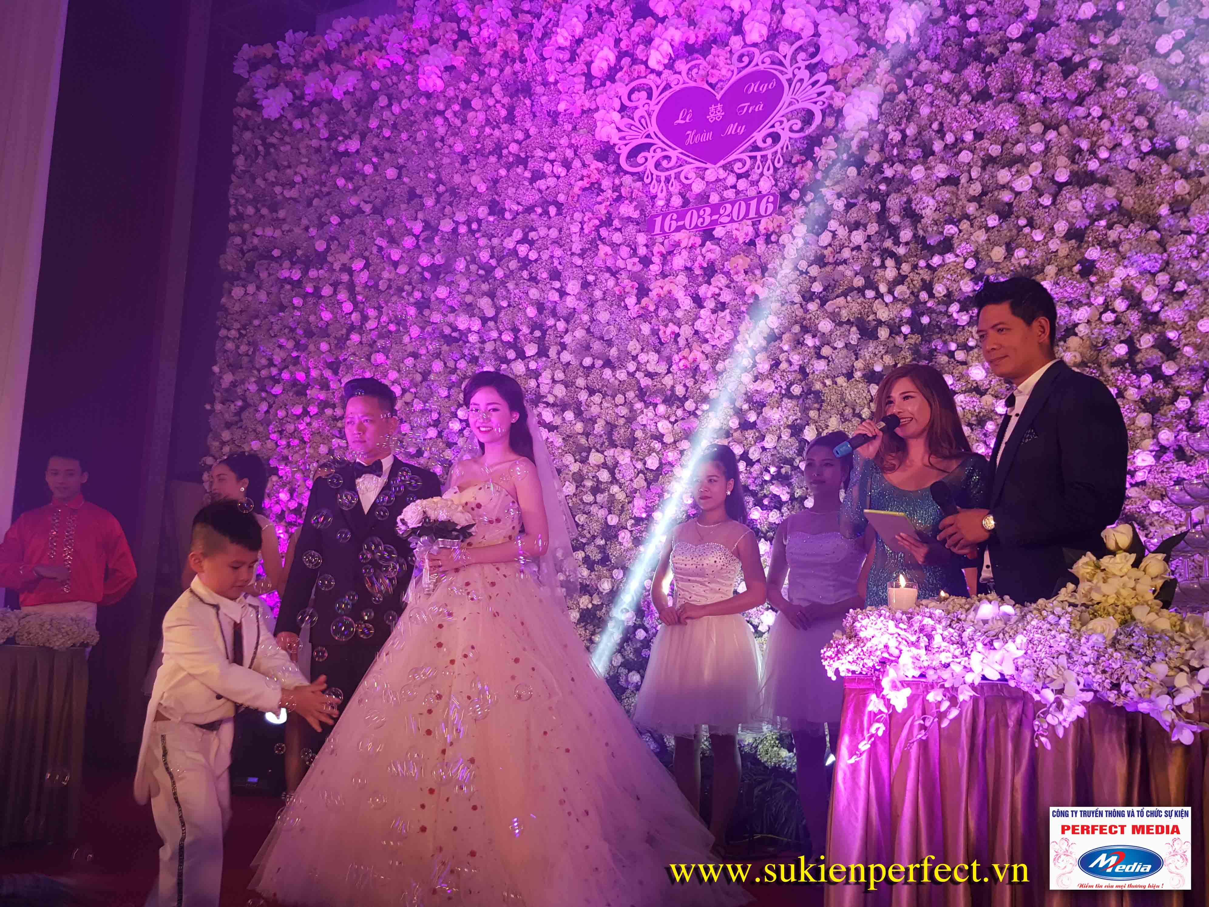 Perfect Media tổ chức đám cưới của Á Hậu hoàn vũ Ngô Trà My