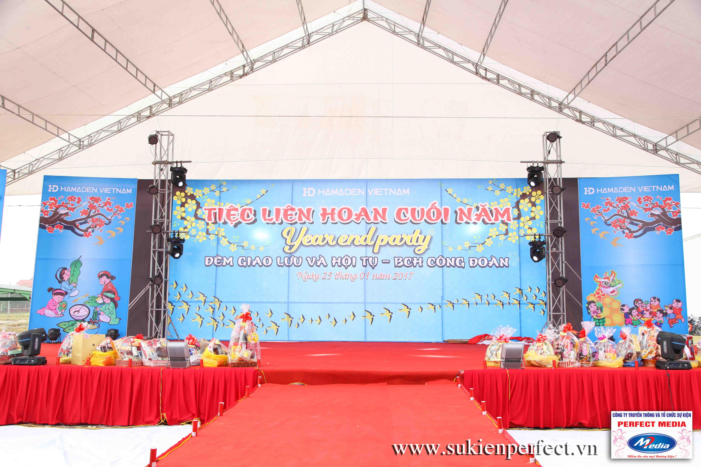 Sân khấu chương trình giao lưu, tiệc liên hoan cuối năm công ty Handmade Việt Nam