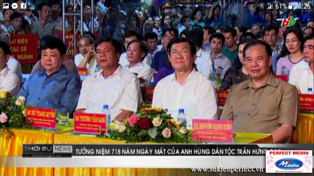Đồng chí Trương Tấn Sang, nguyên Ủy viên Bộ Chính trị, nguyên Chủ tịch nước tới dự.