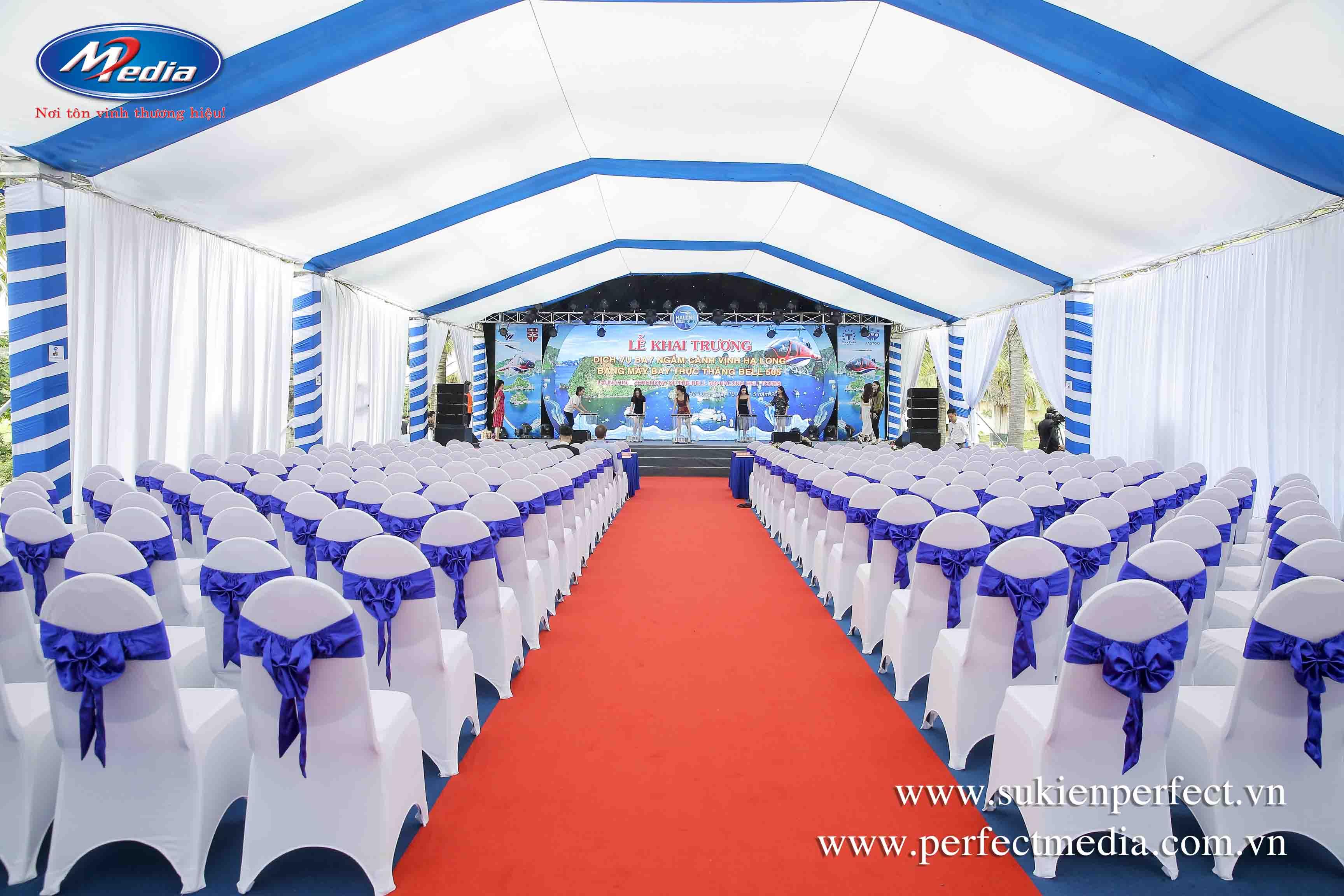 Công ty tổ chức sự kiện tại Quảng Ninh Perfect Media setup Full Khai trương Halong Heli Tours
