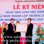 Kỷ niệm 40 năm ngày thành lập THPT Đoàn Thượng và đón nhận Huân chương Lao động hạng Nhì
