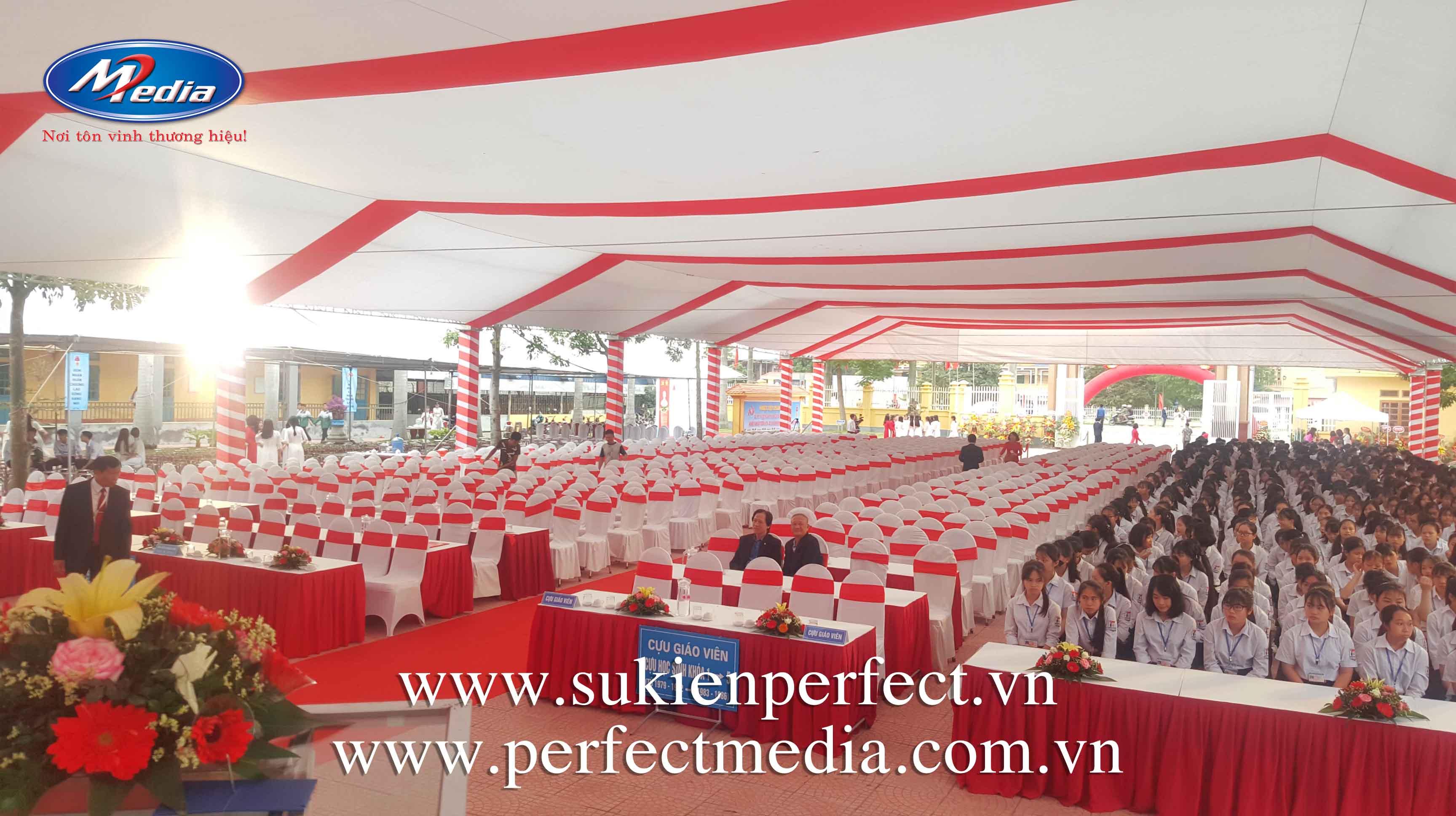 Cho thuê nhà bạt, bàn ghế sự kiện chuyên nghiệp tại Thái Bình 2