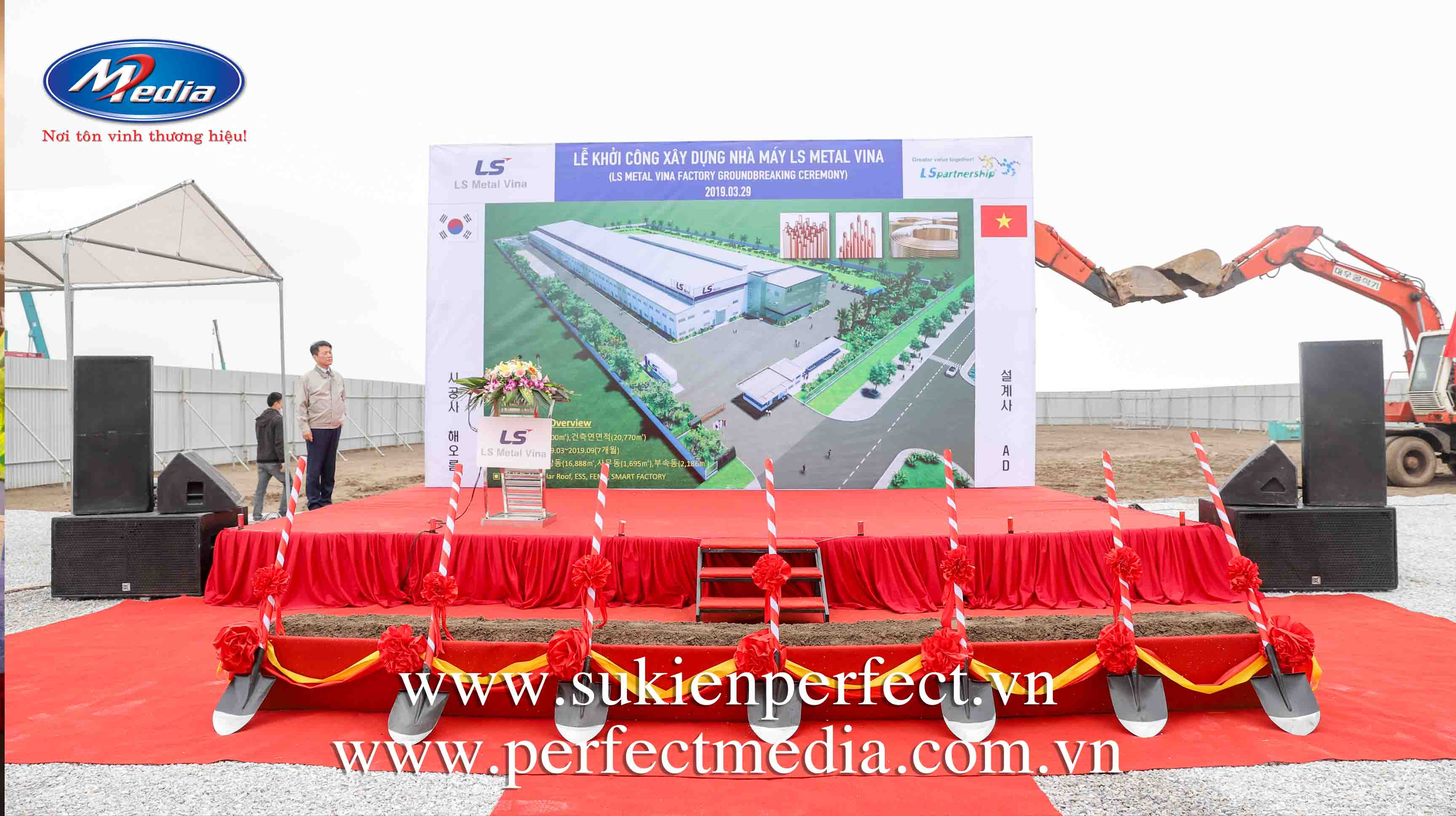 lễ khởi công nhà máy LS Metal Vina tại Hải Phòng