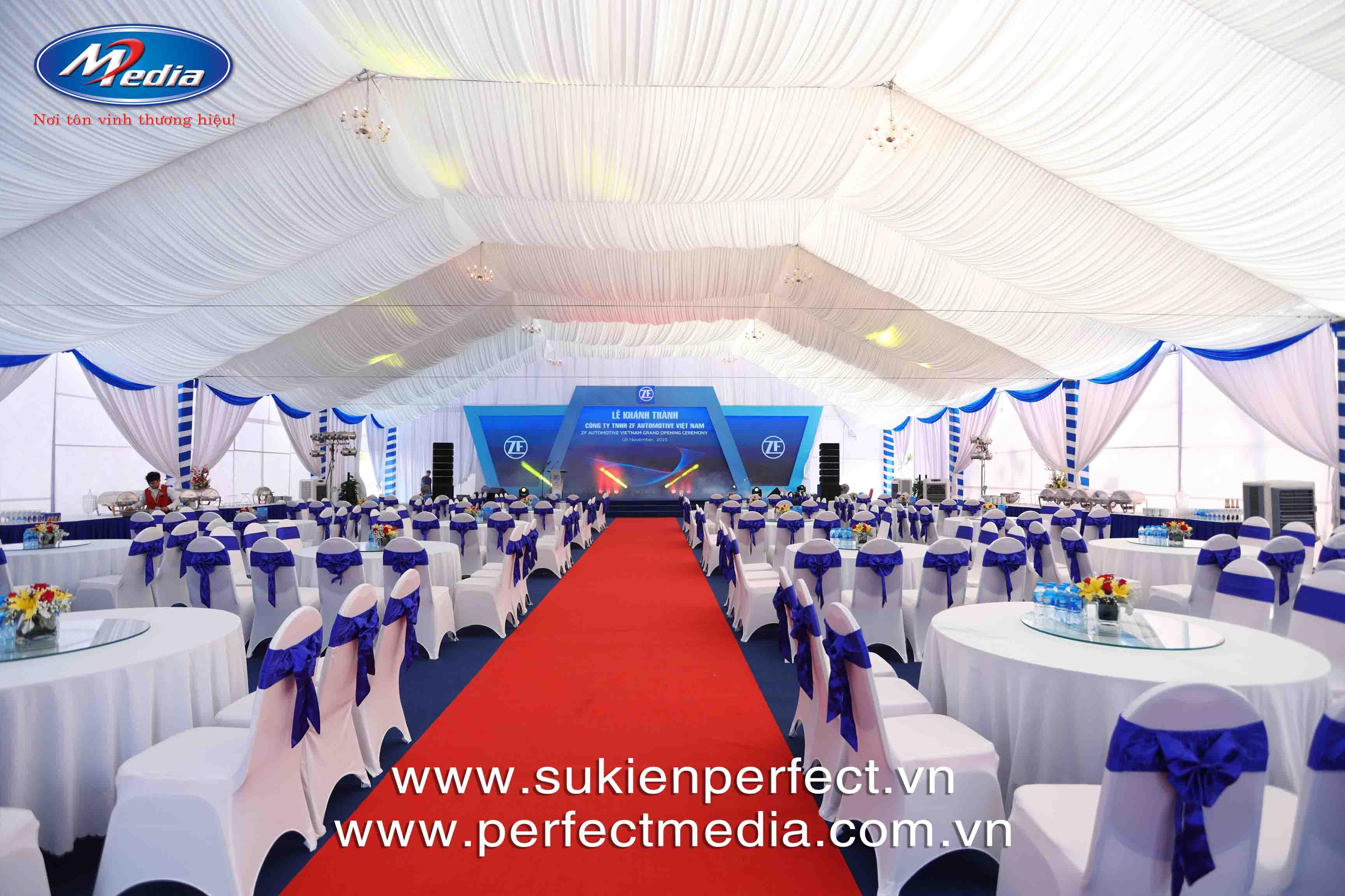 Perfect Media cho thuê nhà bạt, bàn ghế sự kiện chuyên nghiệp tại Thái Bình