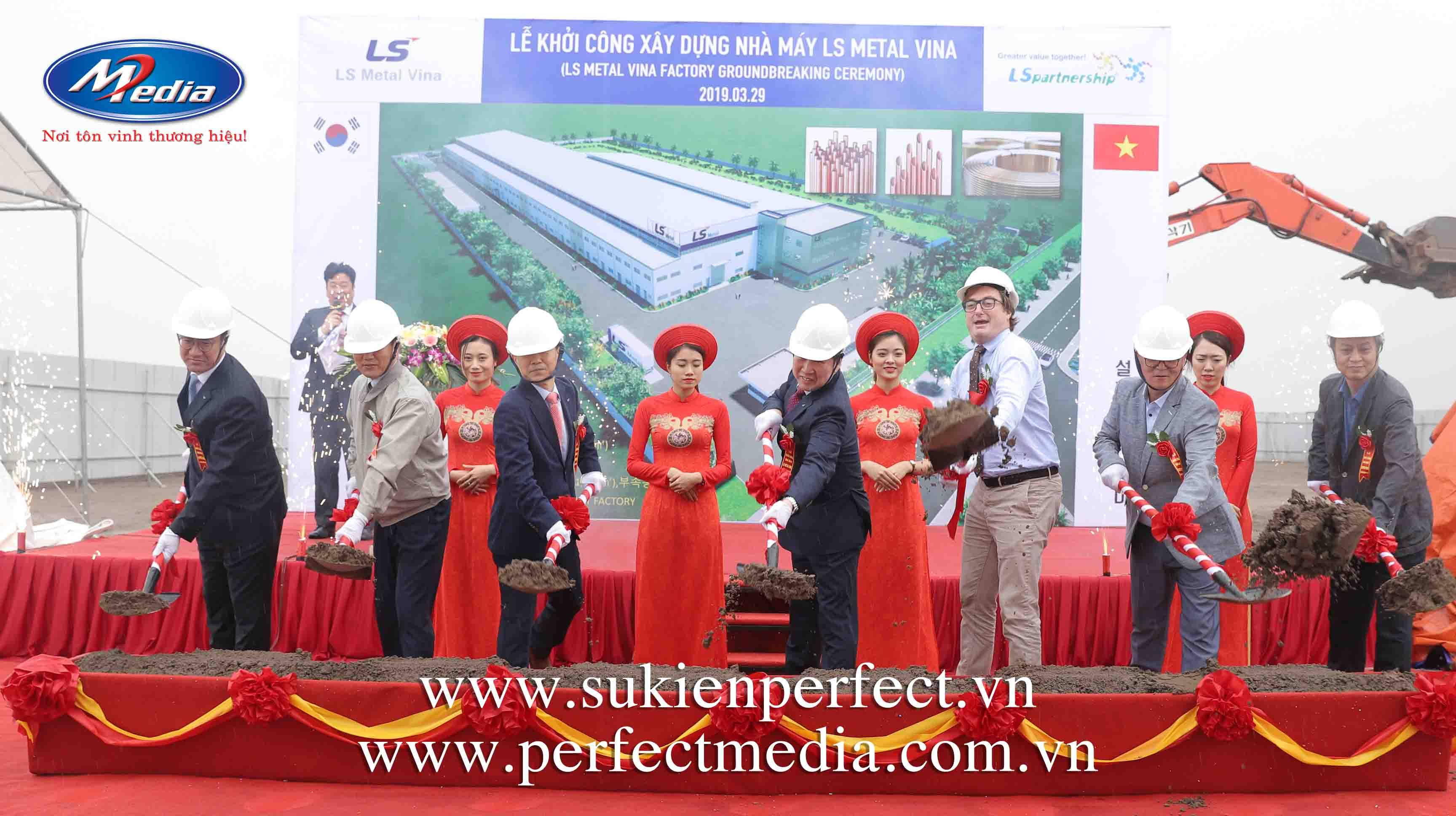 Lễ khởi côngxây dựng Nhà máy LS Metal Vinatại KCN Deep C 2B - Đình Vũ - Hải Phòng