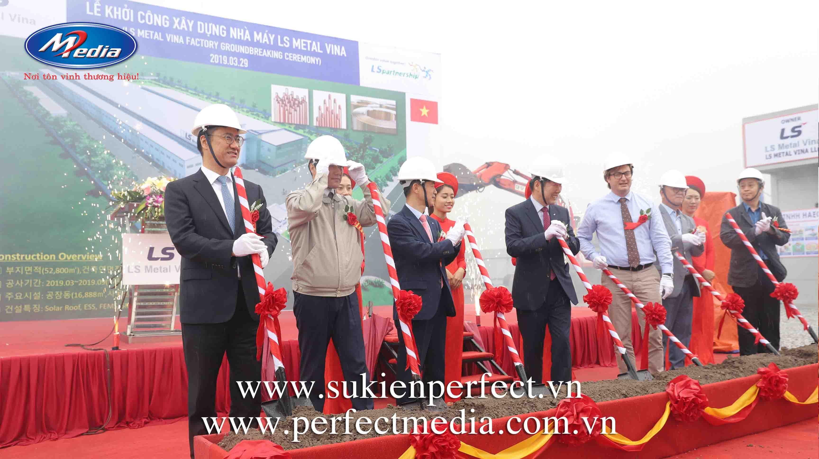 công ty Perfect Media cung cấp để tổ chức Lễ khởi công, động thổ tại Hạ Long, Quảng Ninh