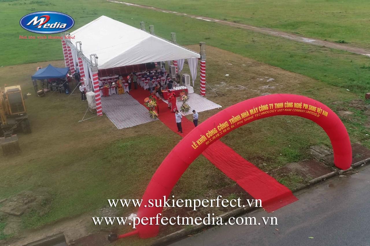công ty Perfect Media cung cấp để tổ chức Lễ khởi công, động thổ tại Hạ Long, Quảng Ninh.
