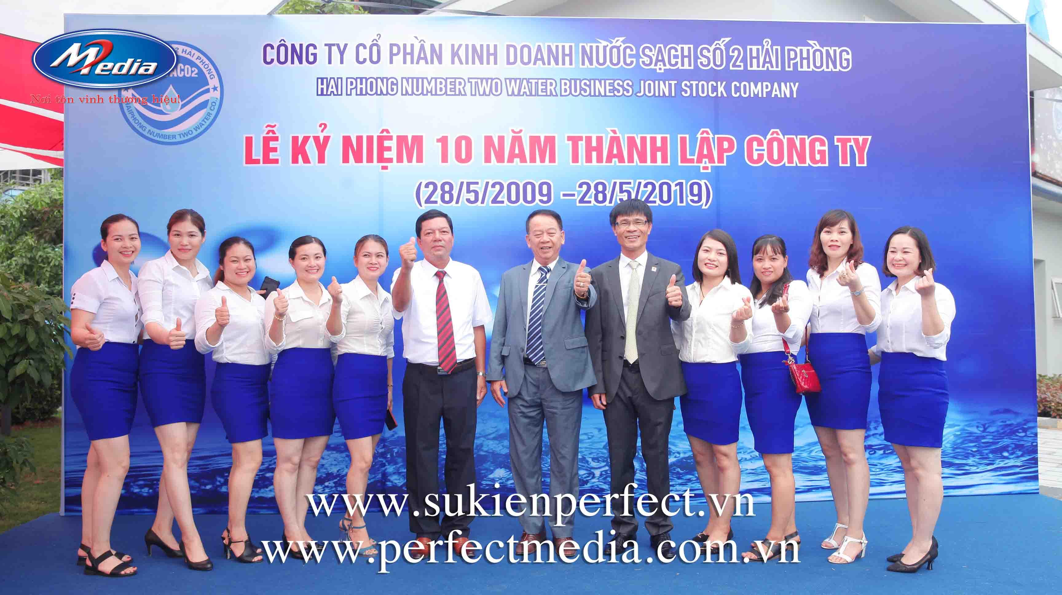 Lễ kỷ niệm 10 năm thành lập công ty Nước sạch số 2 Hải Phòng6a